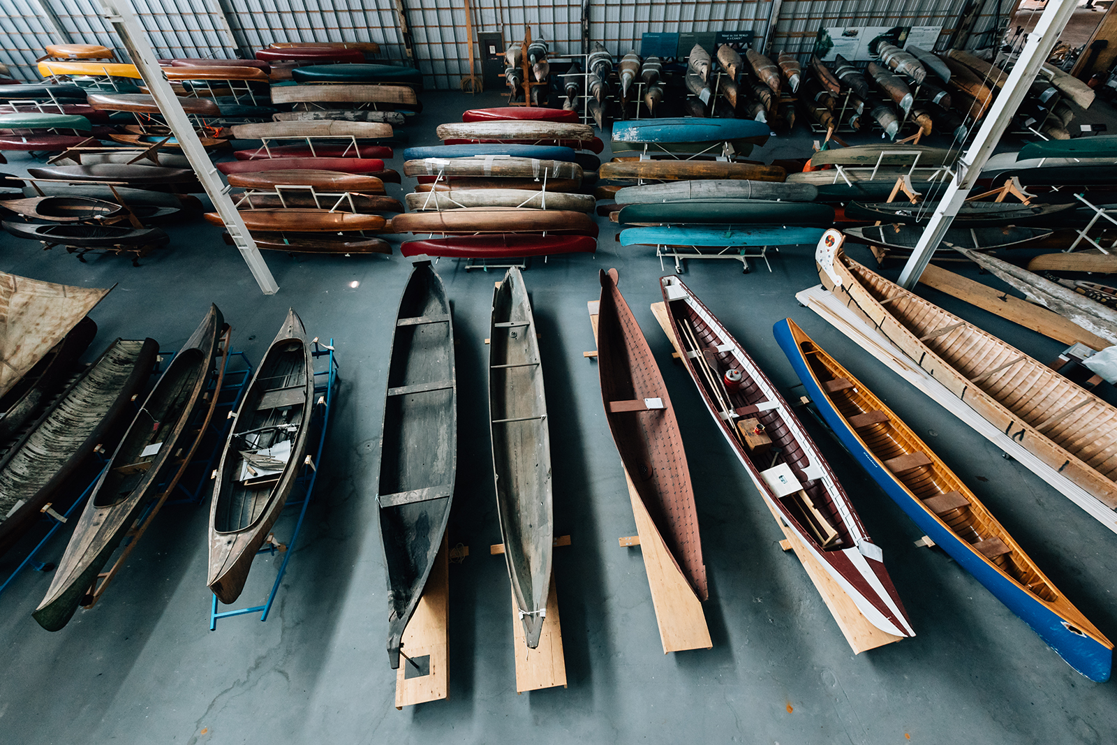 Canoes at the Canadian Canoe Museum