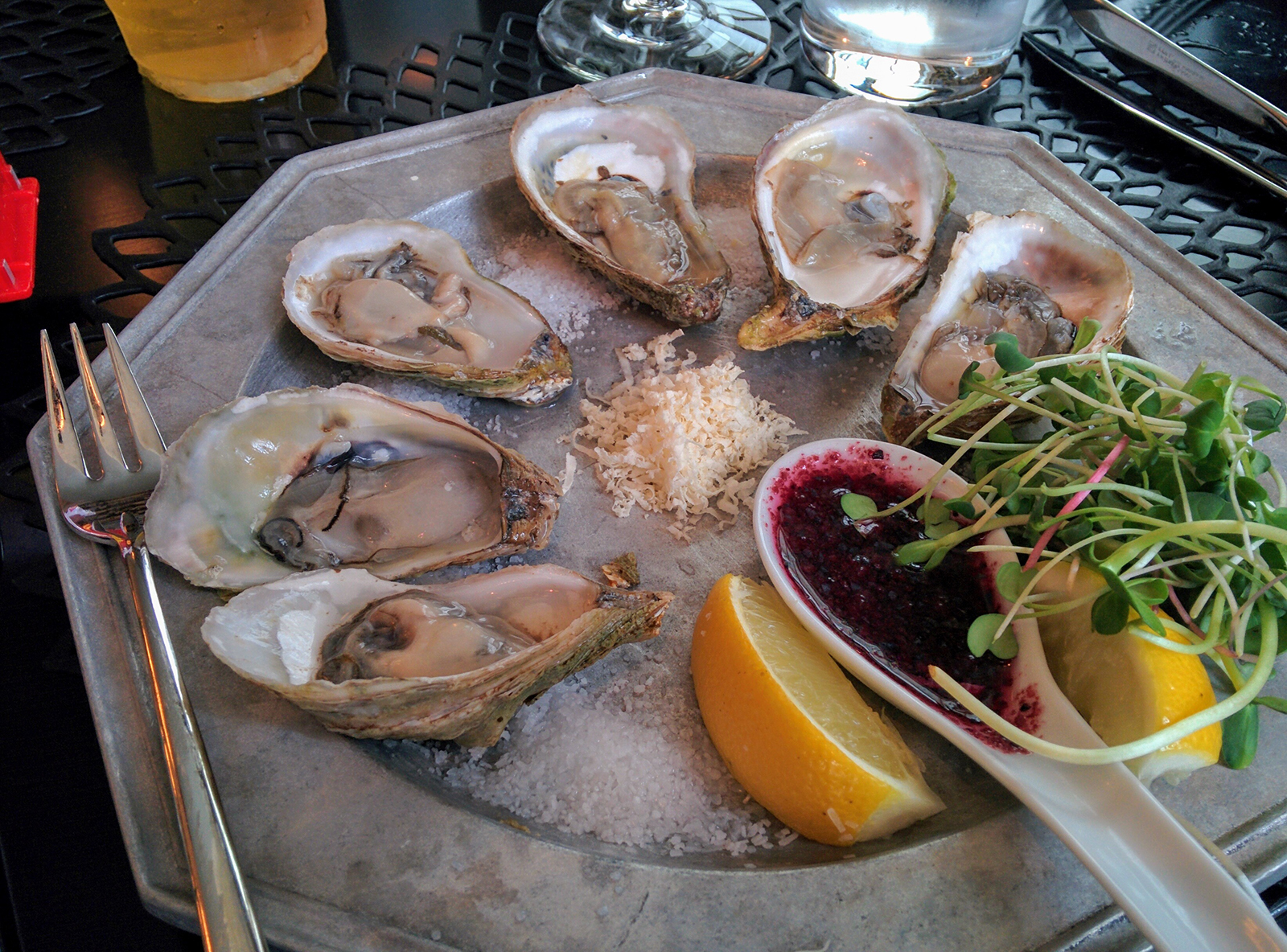 Oysters at the Algonquin Resort