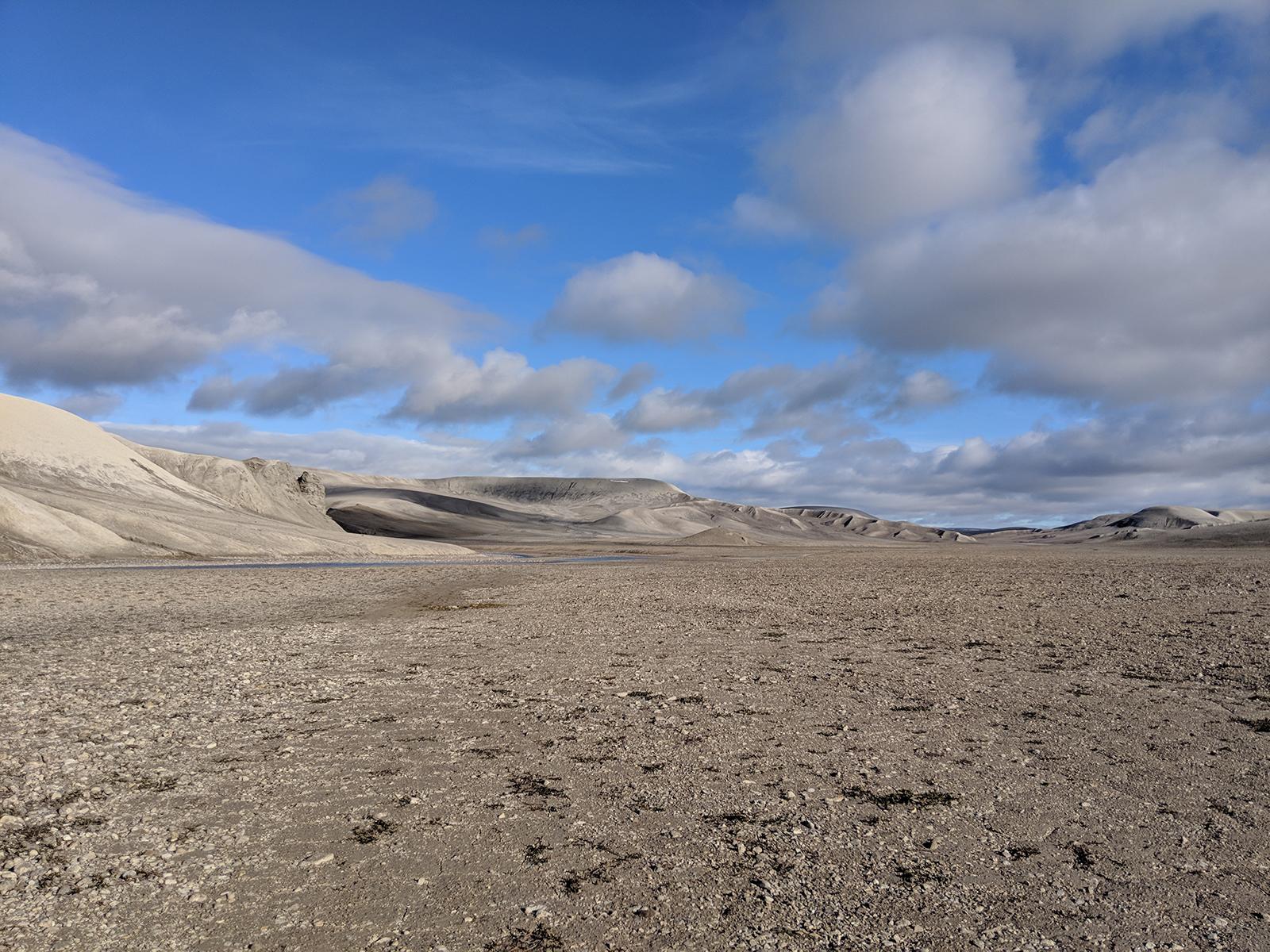 Breccia Hills polar desert landscape Devon Island