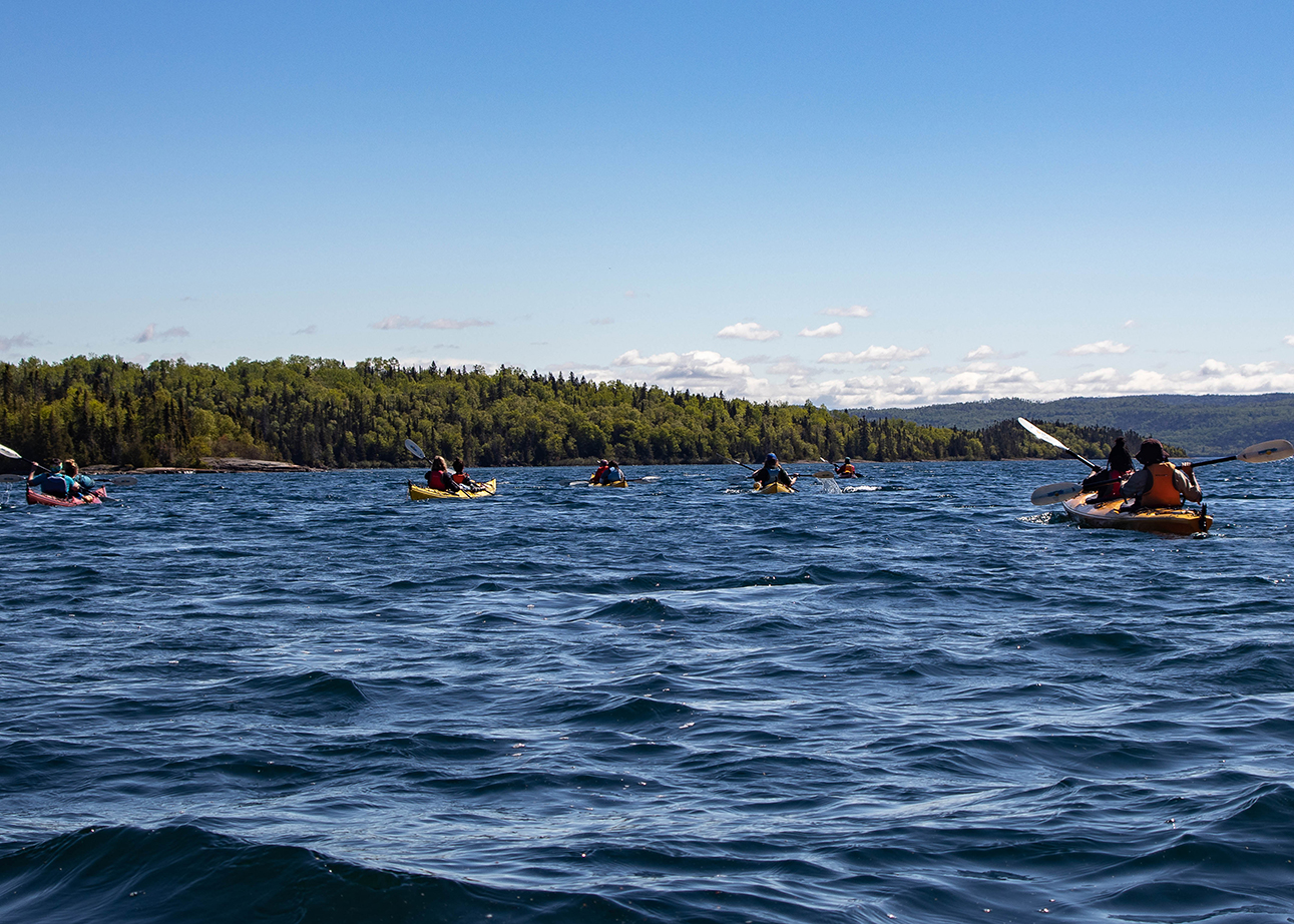 Kayak tours out of Rossp  ort were led by local guides with Parks Canada and Superior Outfitters.