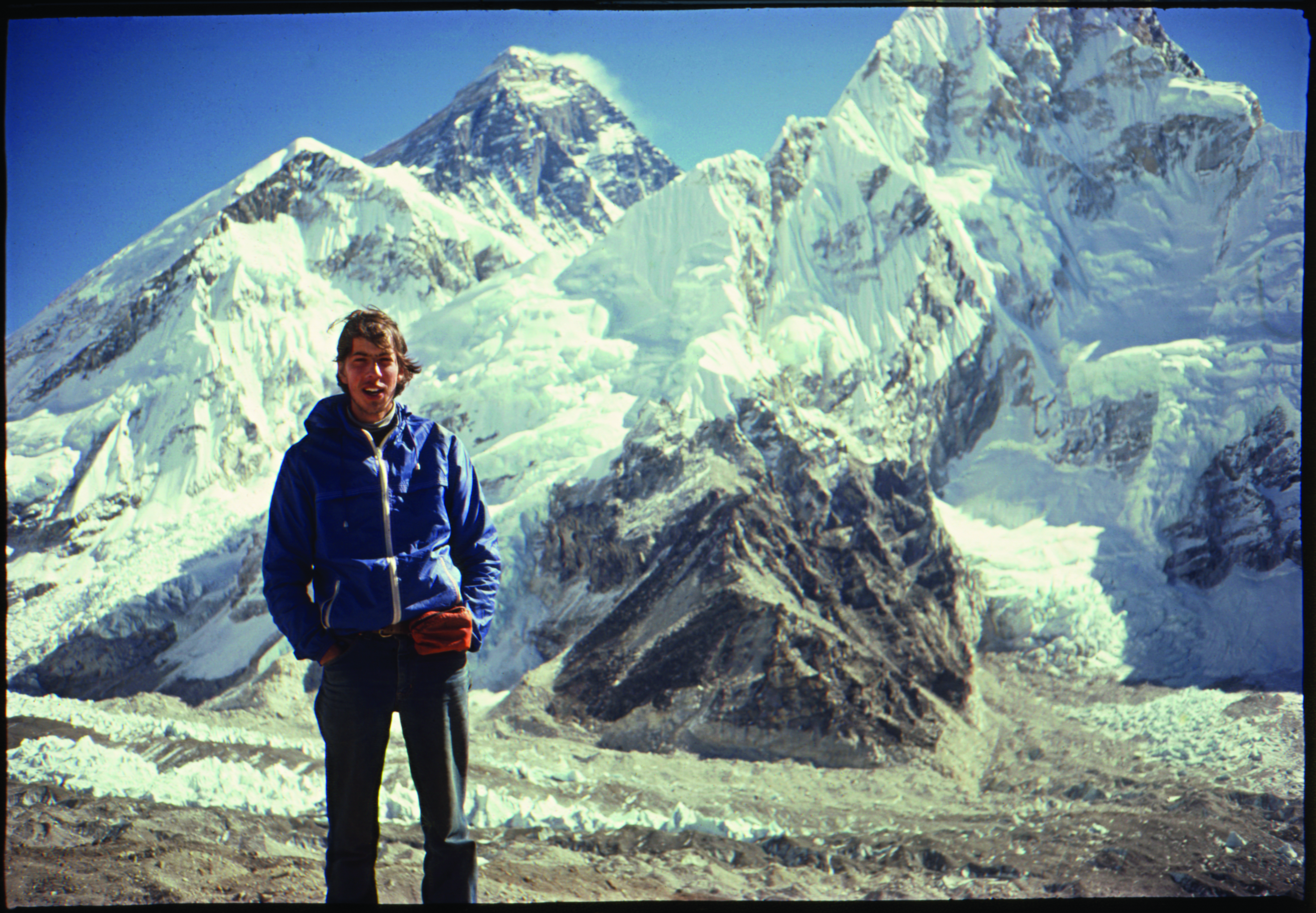 Author in Himalayas with Everest in the background