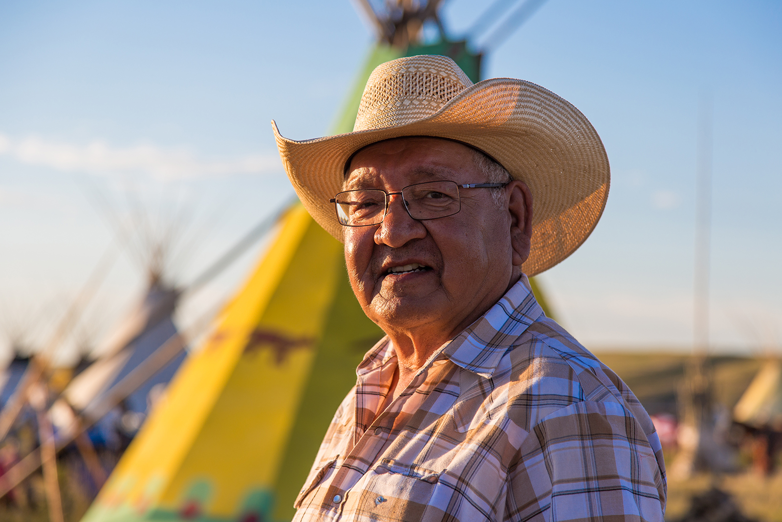 Gerald Sitting Eagle, a Siksika Elder and the former chair of the Stampede's Indian Events committee.