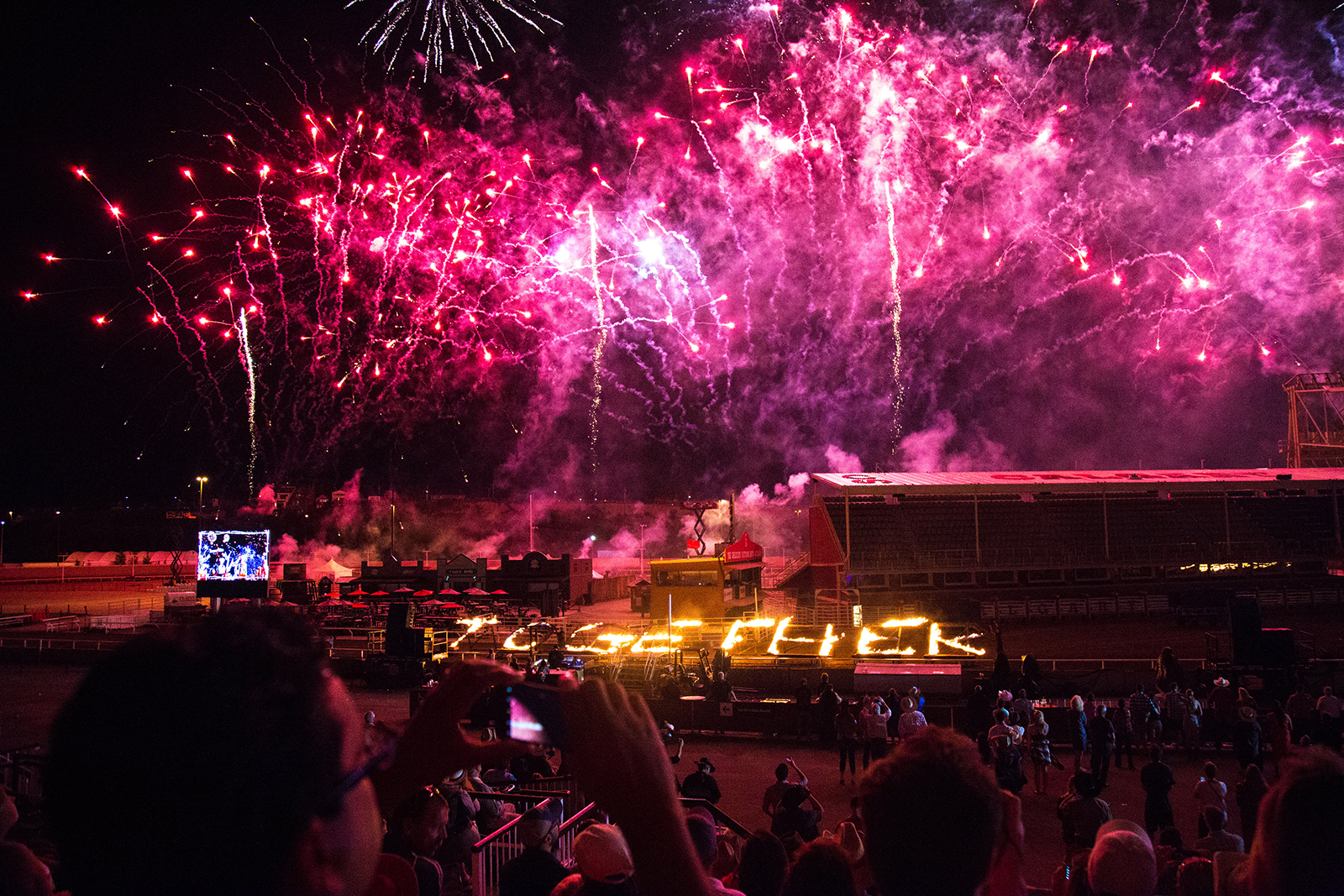 The grandstand show at the 2017 Calgary Stampede