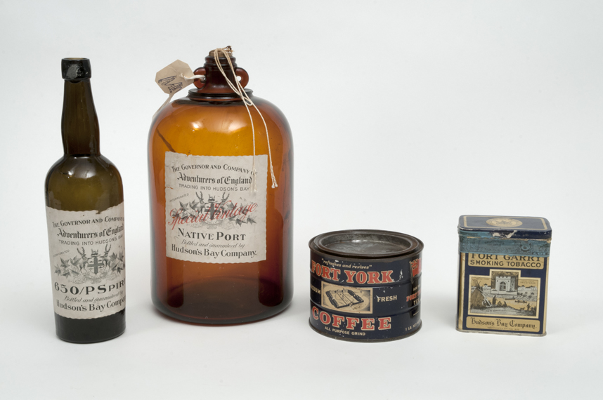 Early Hudson's Bay Company retail items, late 19th, early 20th centuries. Photo courtesy the Manitoba Museum.