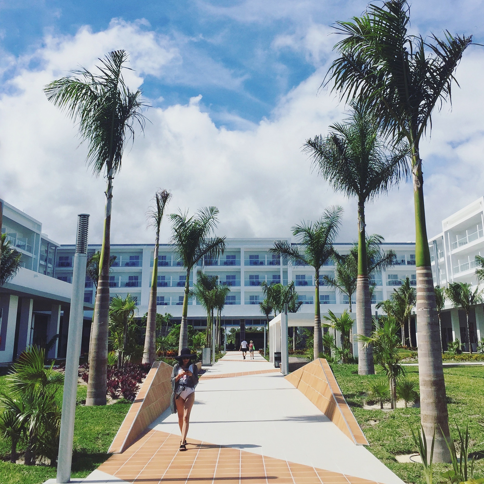 Strolling the resort at Riu Dunamar