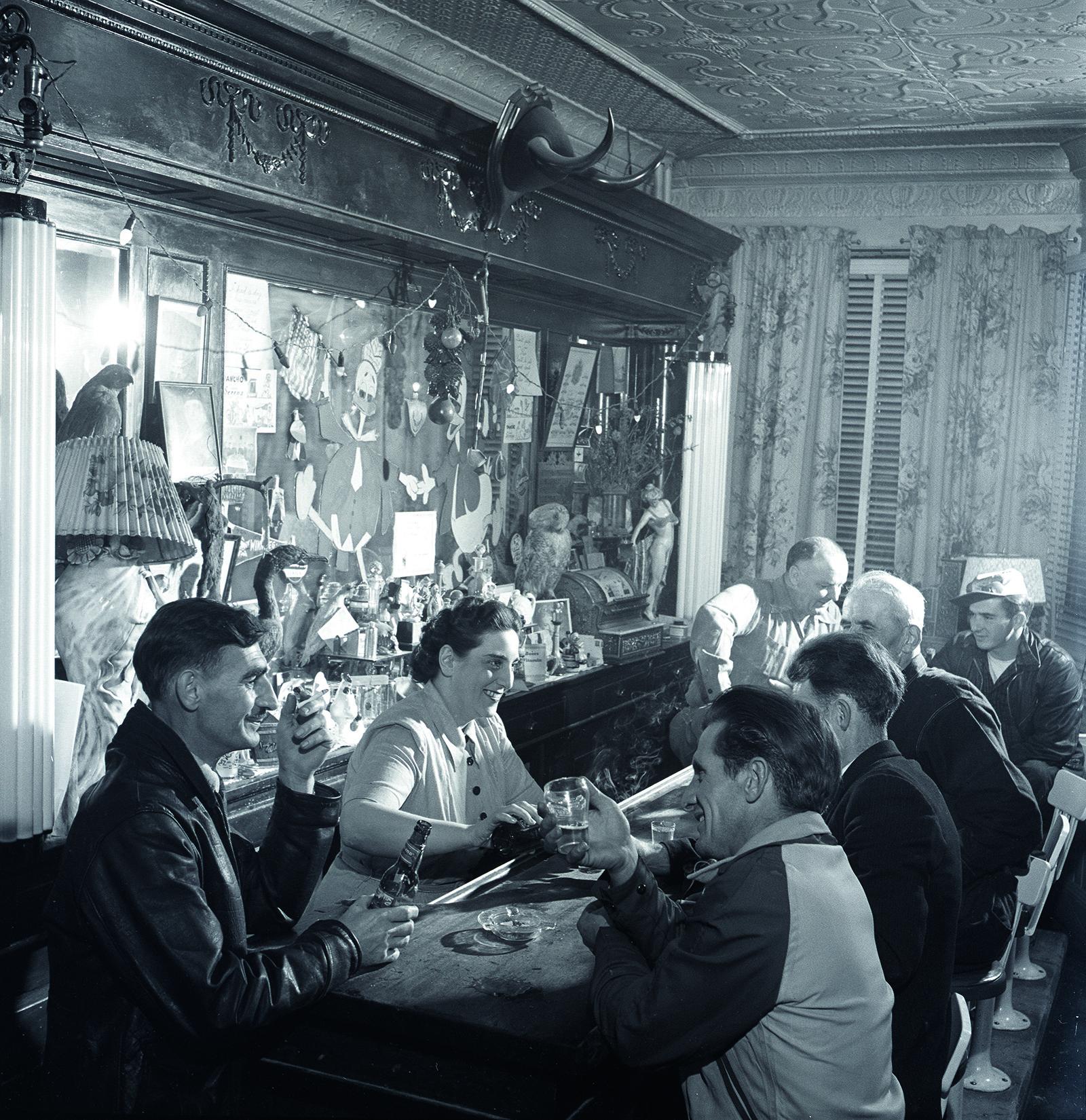 bar in Dawson, Yukon by George Hunter