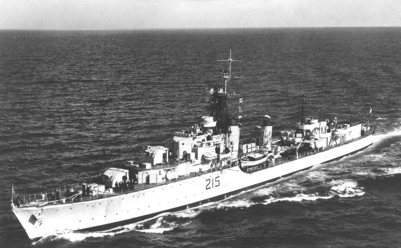 HMCS Haida at sea in the late 50s