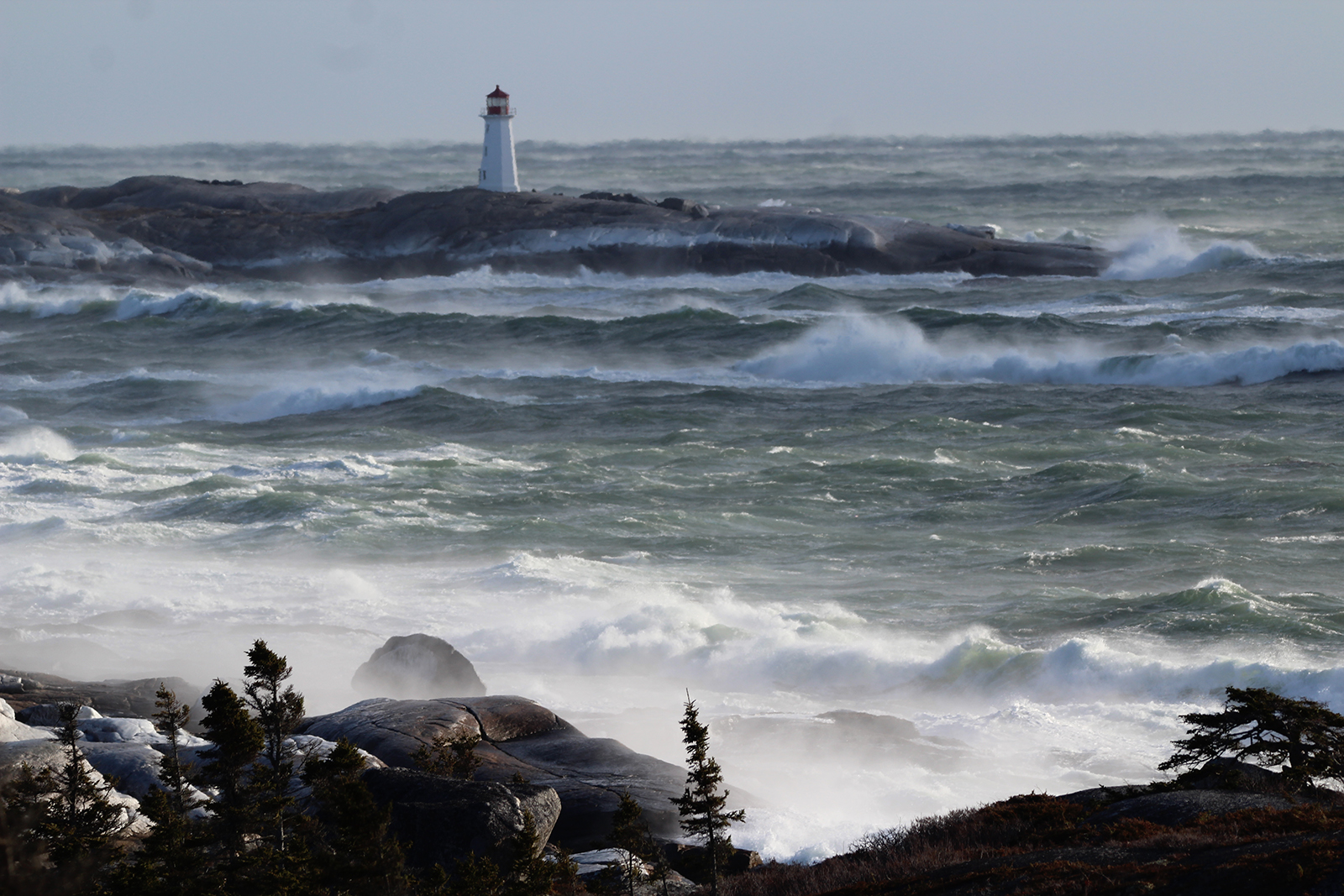 Peggys Cove, NS after Bomb Cyclone nor'easter storm 2018