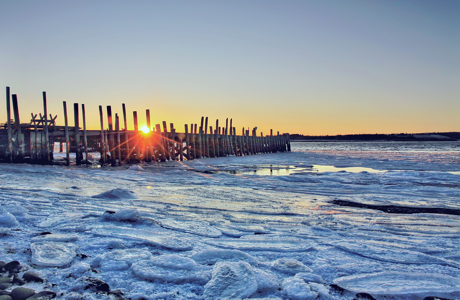 frigid sunrise, seaforth nova scotia