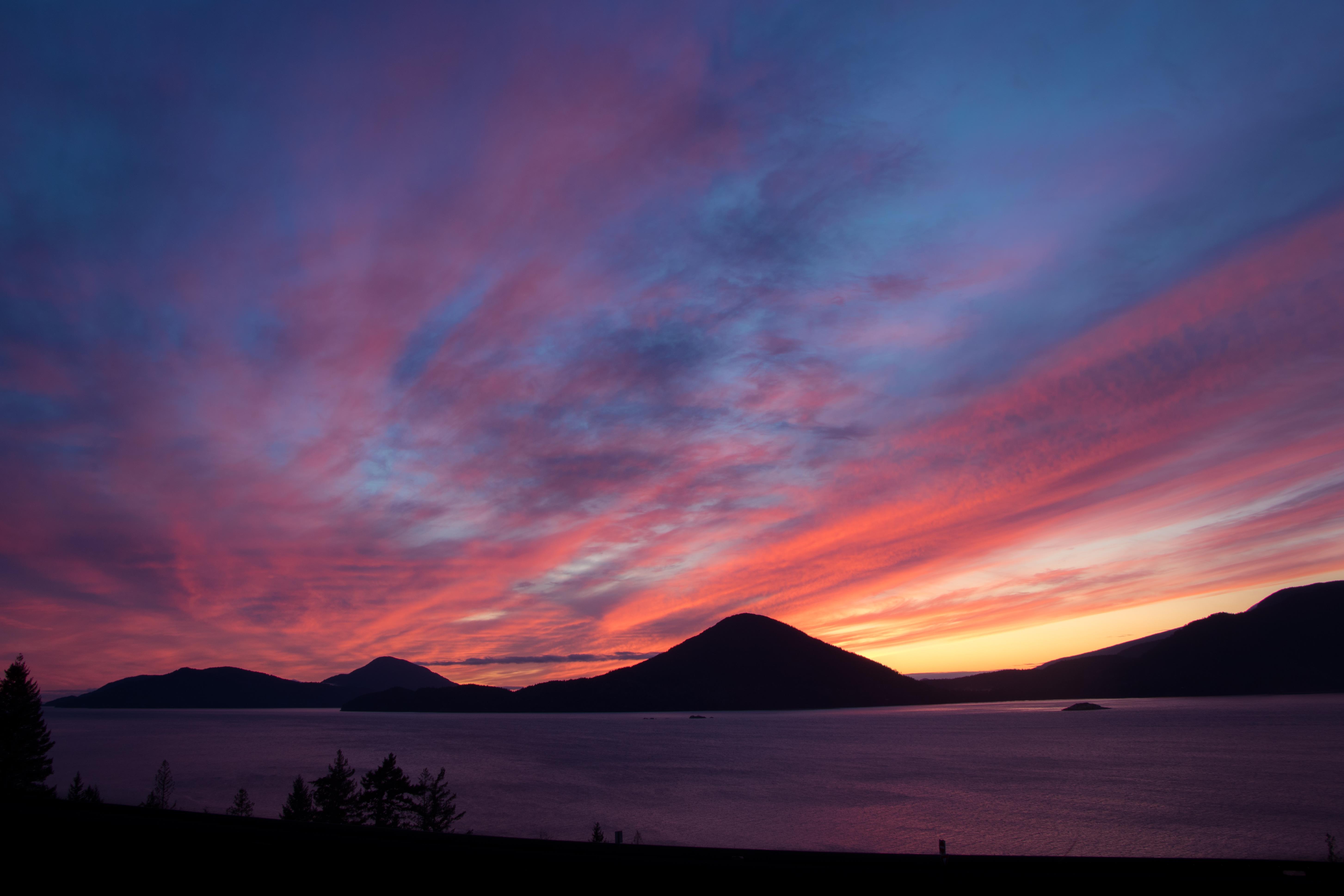 Howe Sound at sunset. (Photo Credit: Eric Kukulowicz)