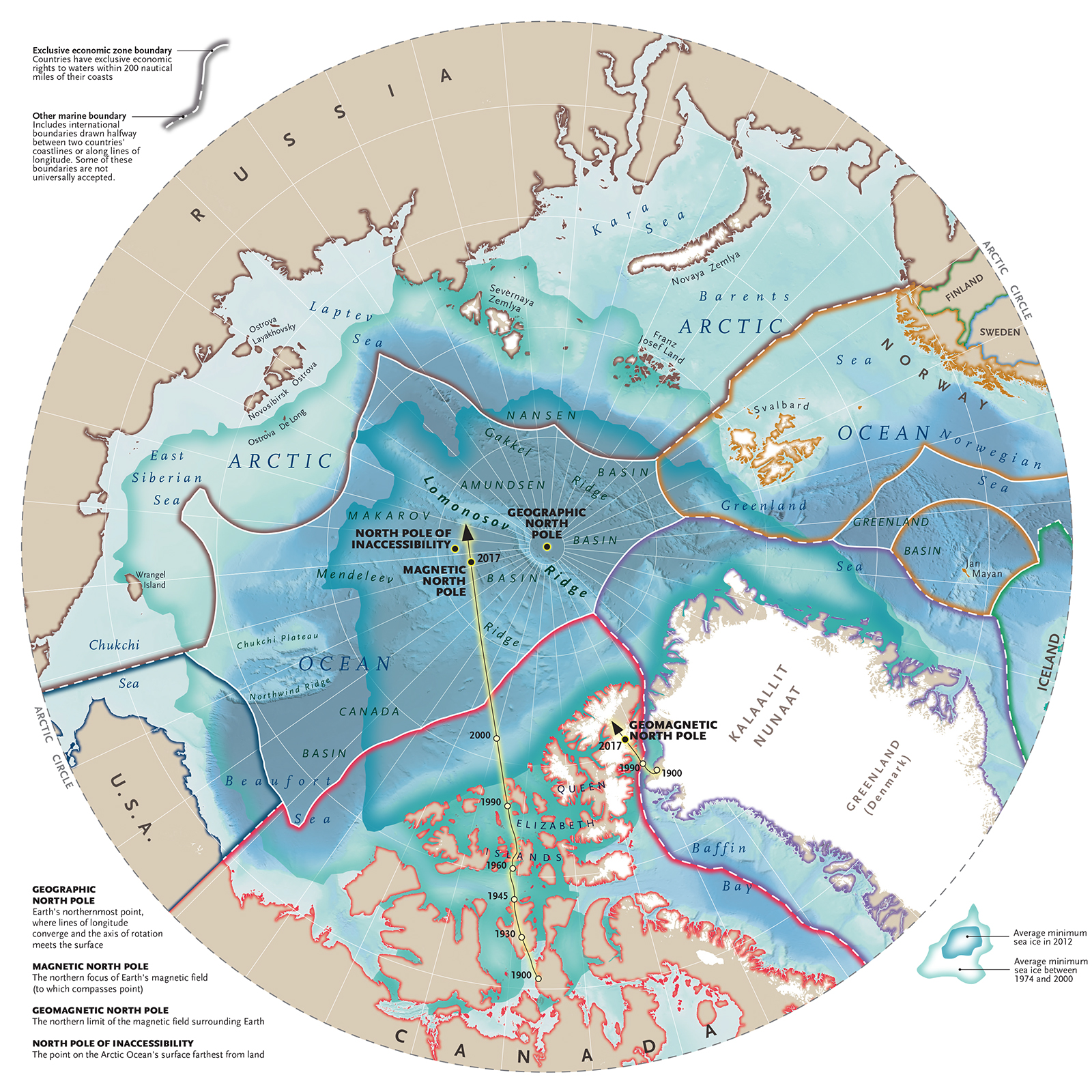 arctic sovereignty map