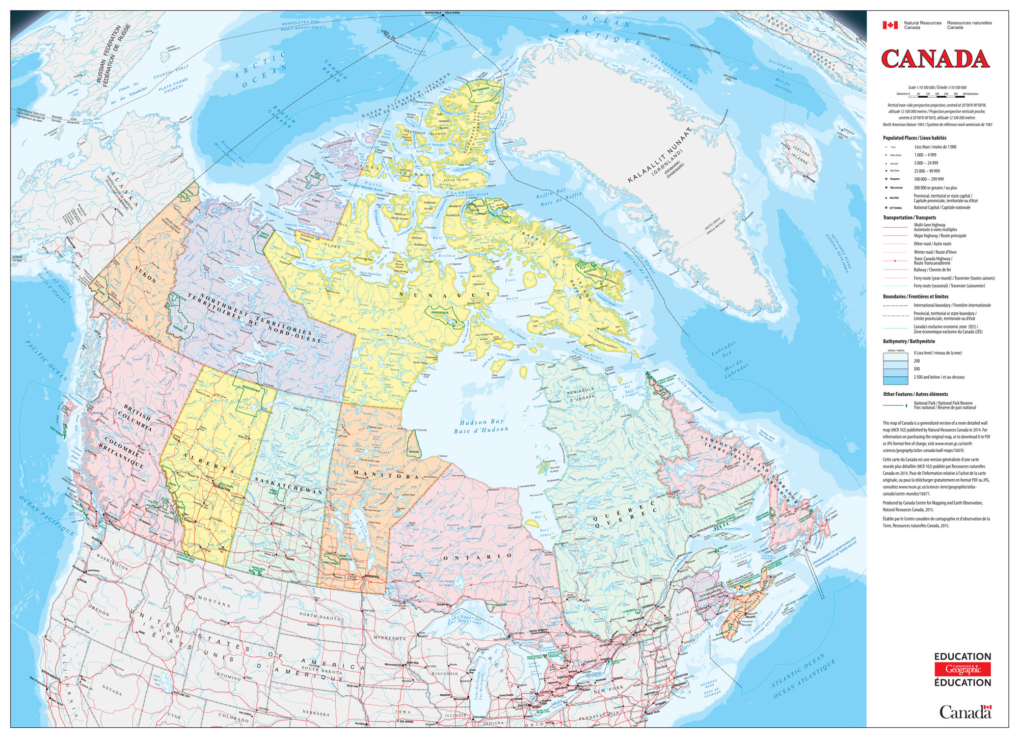 new rip proof classroom map of canada now available canadian geographic