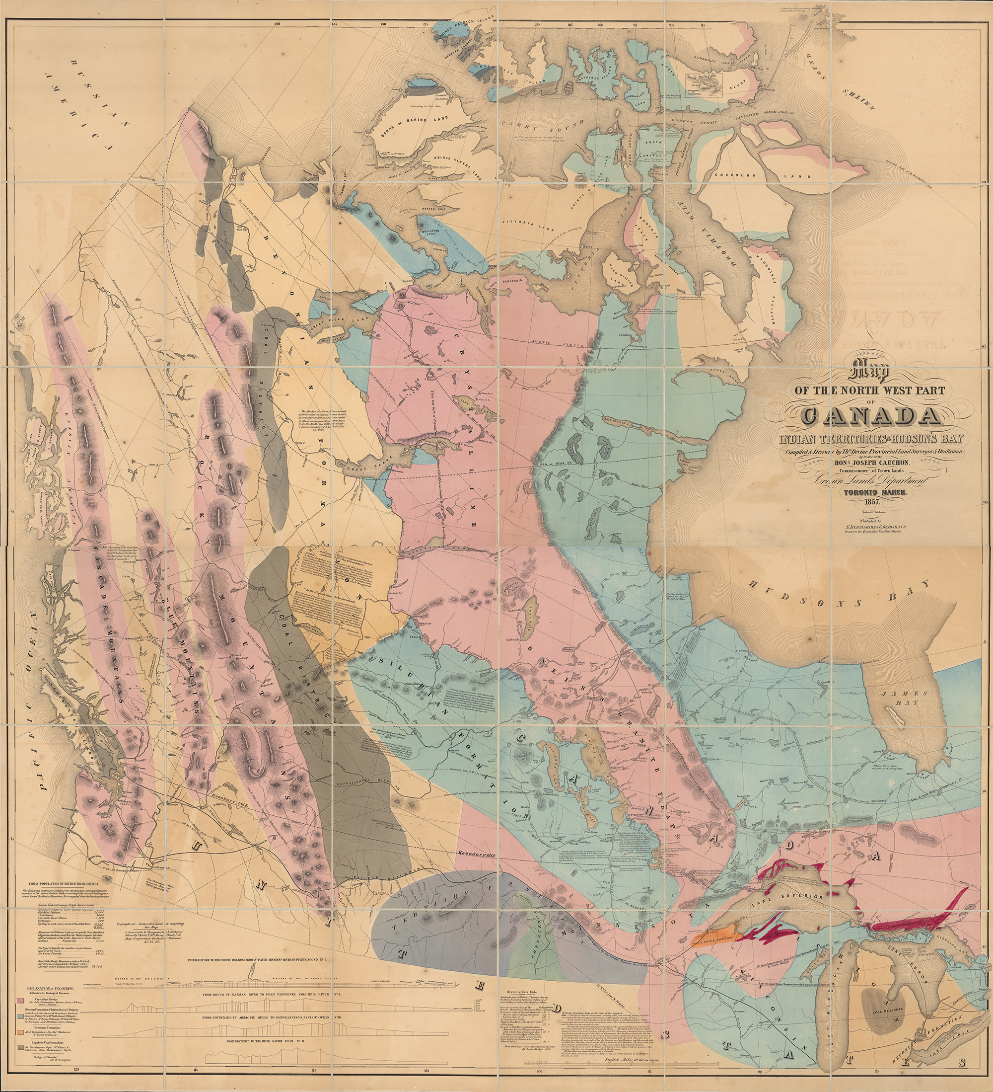Western Map Of Canada First map of Canada's West | Canadian Geographic