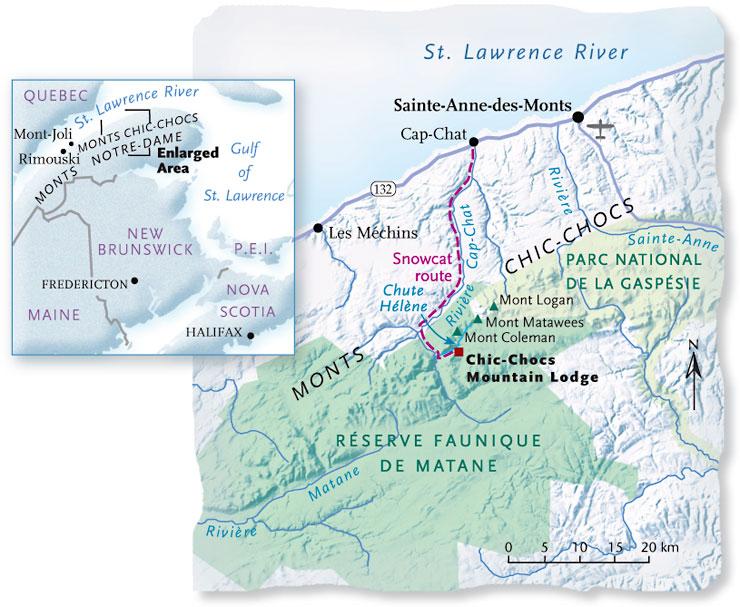 Chic Chocs Chic Gasp 233 Peninsula Canadian Geographic