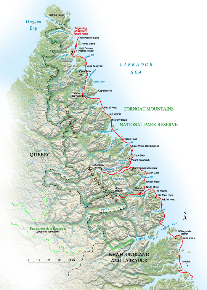 Torngat Mountains Canadas Newest National Park Canadian Geographic - Mountains in canada map