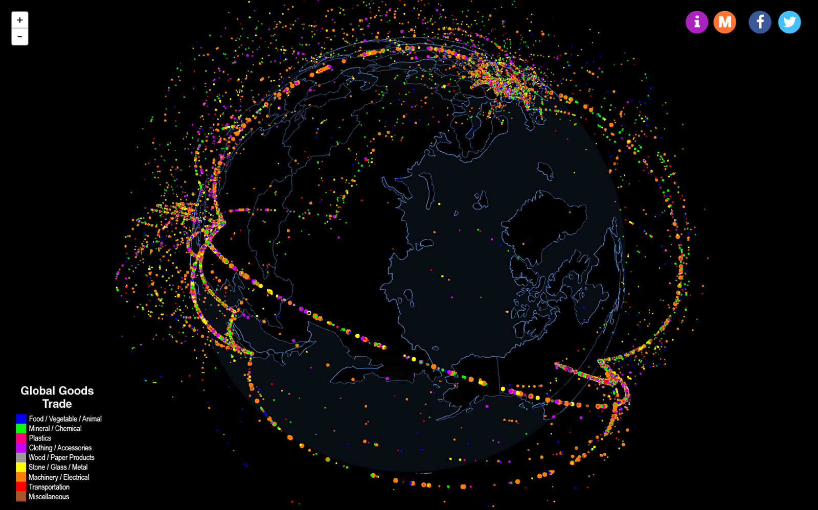 Mesmerizing Map Lets You Visualize The Flow Of Global