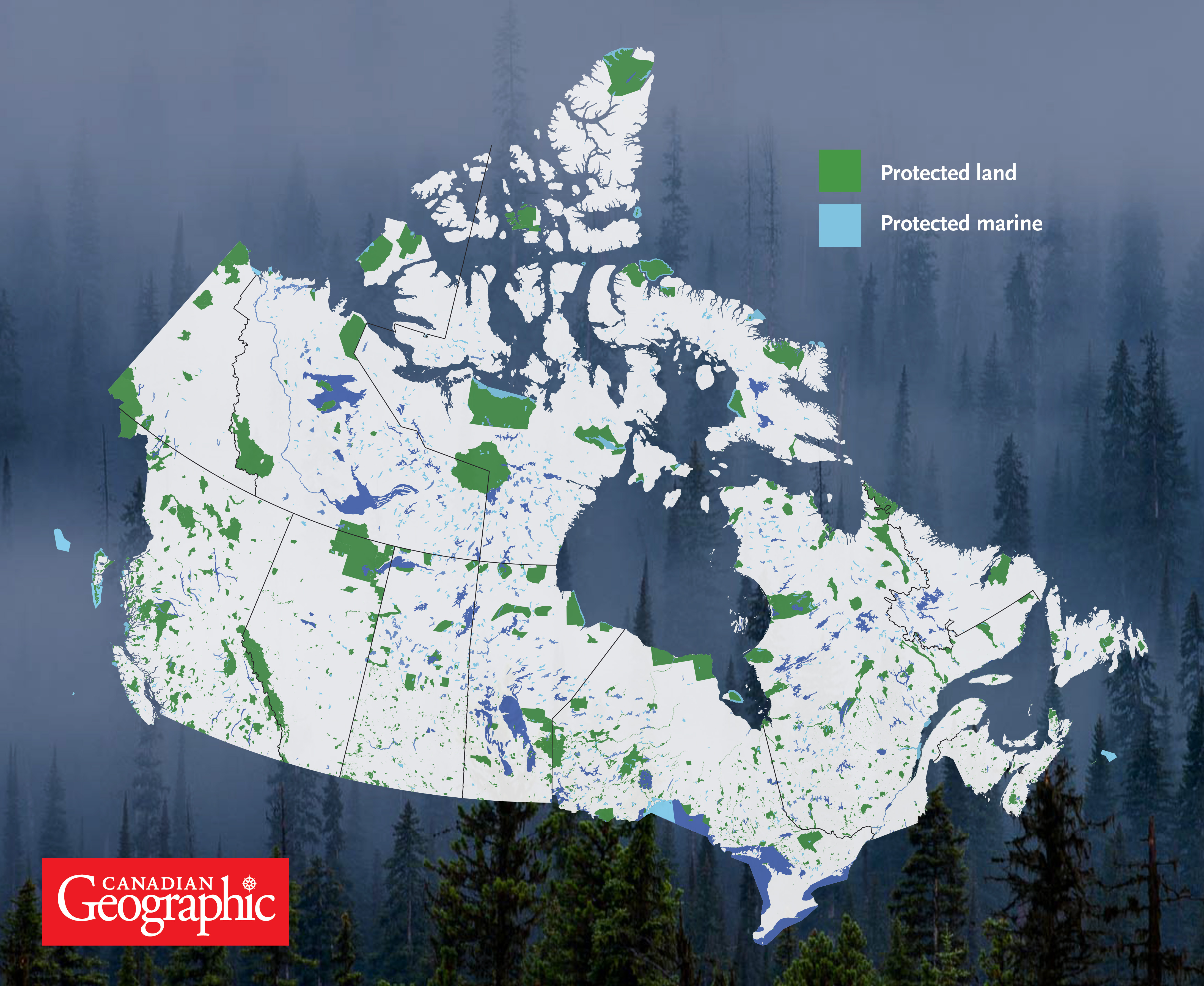 infographic canada u0027s protected areas canadian geographic