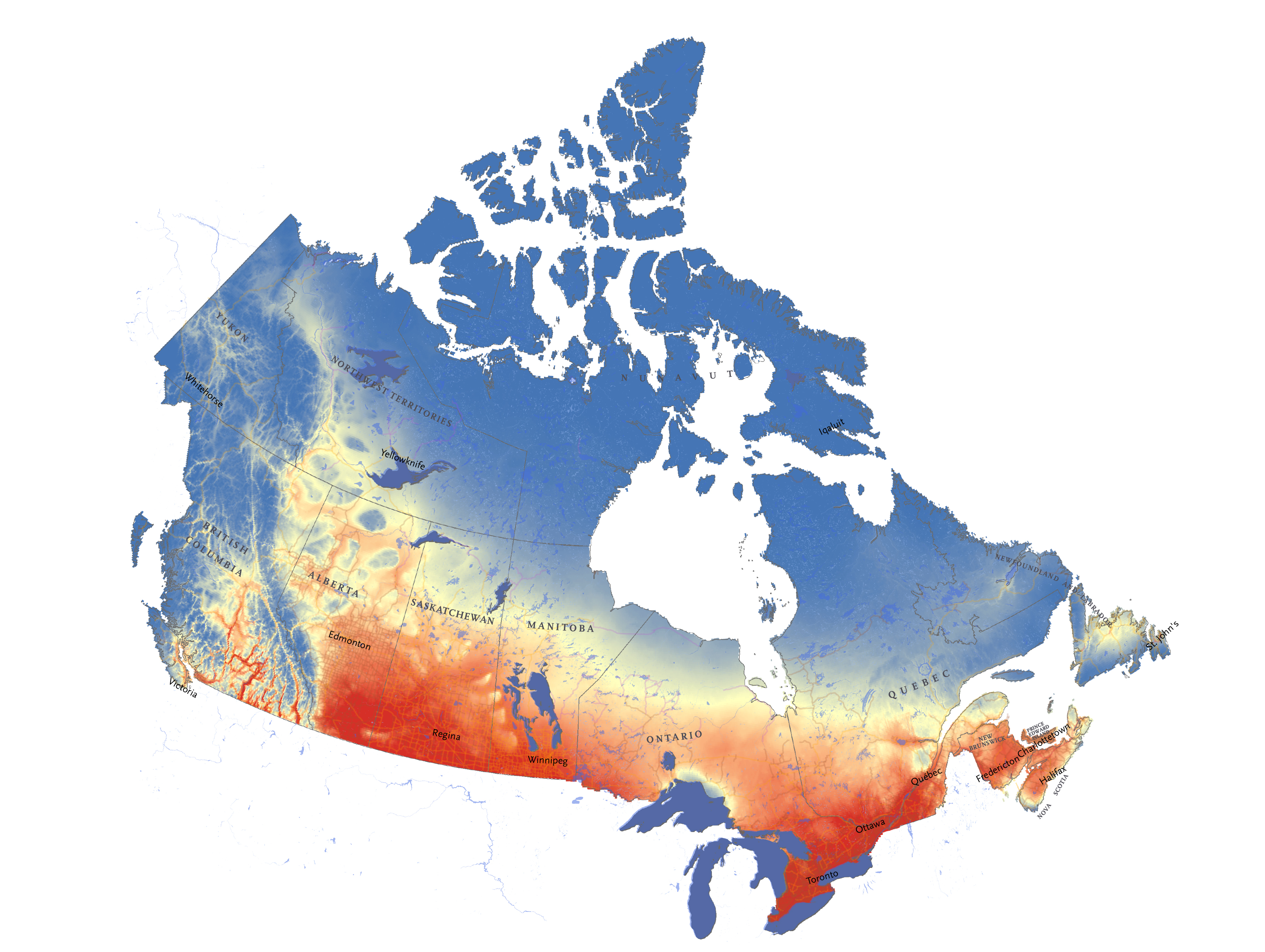 Climate Change Map Canada Mapping Canada's climate future | Canadian Geographic