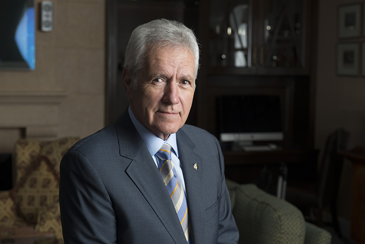 Alex Trebek sits for a portrait
