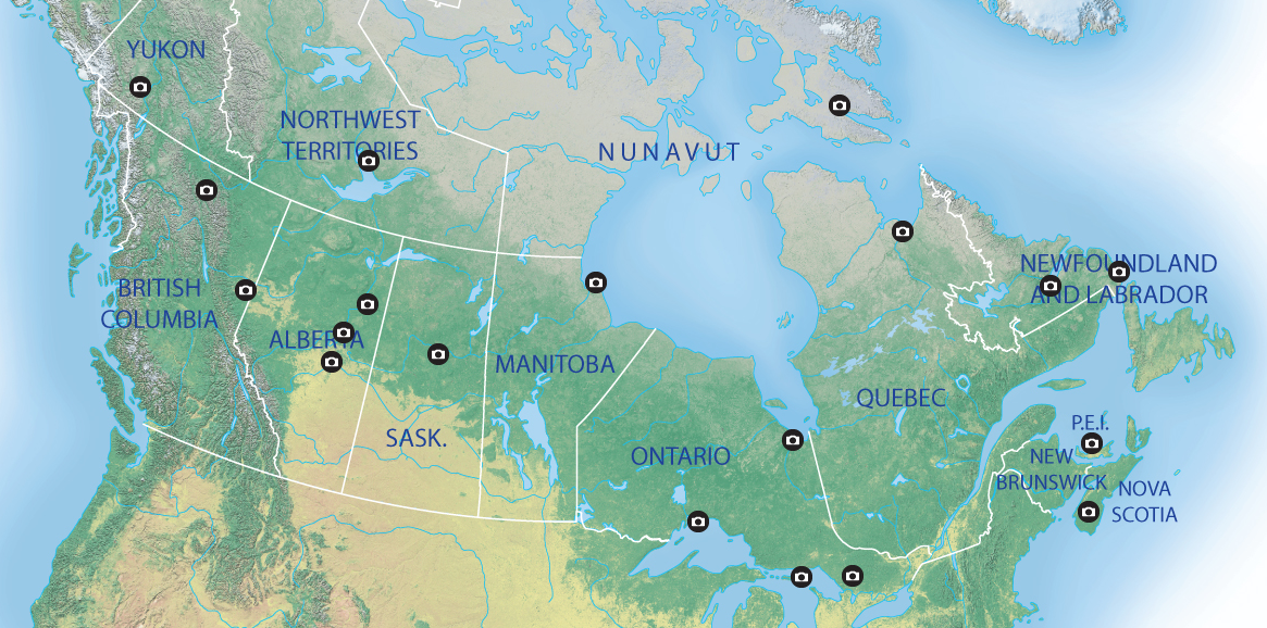 Interactive map see the northern lights across Canada – Map of Canada Interactive