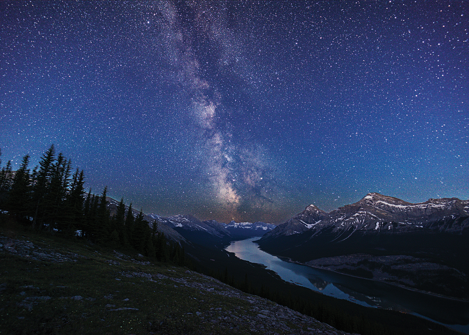 Milky Way rocky mountains