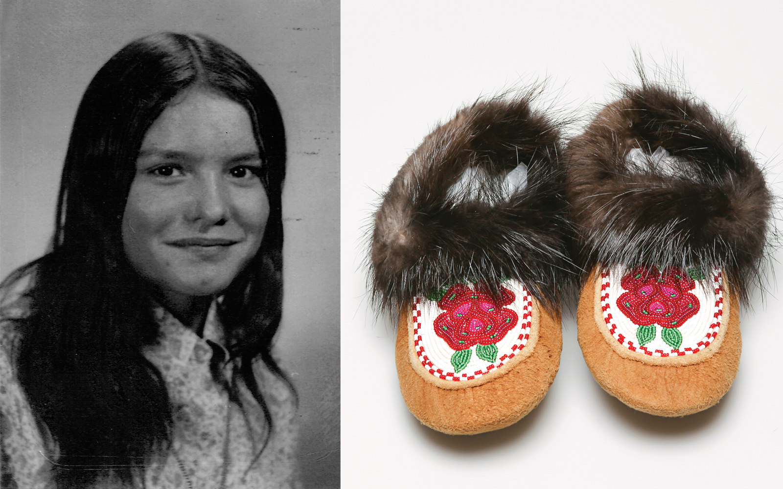 Bev Sellars moccasins truth and reconciliation commission bentwood box