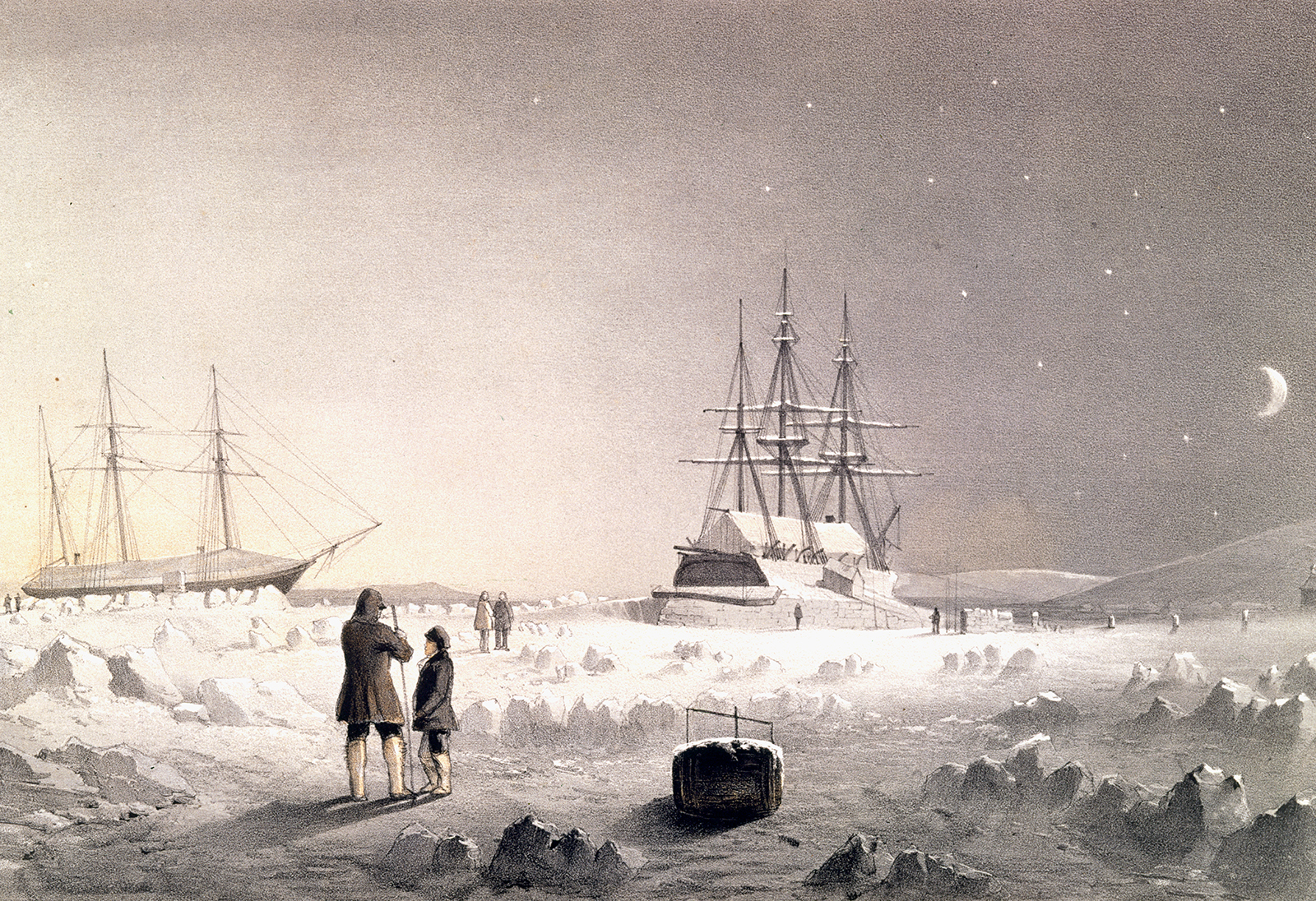 HMS Assistance and Pioneer in Winter Quarters