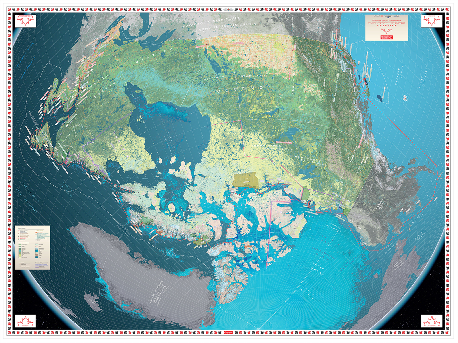 Canada C3 expedition giant floor map by Chris Brackley