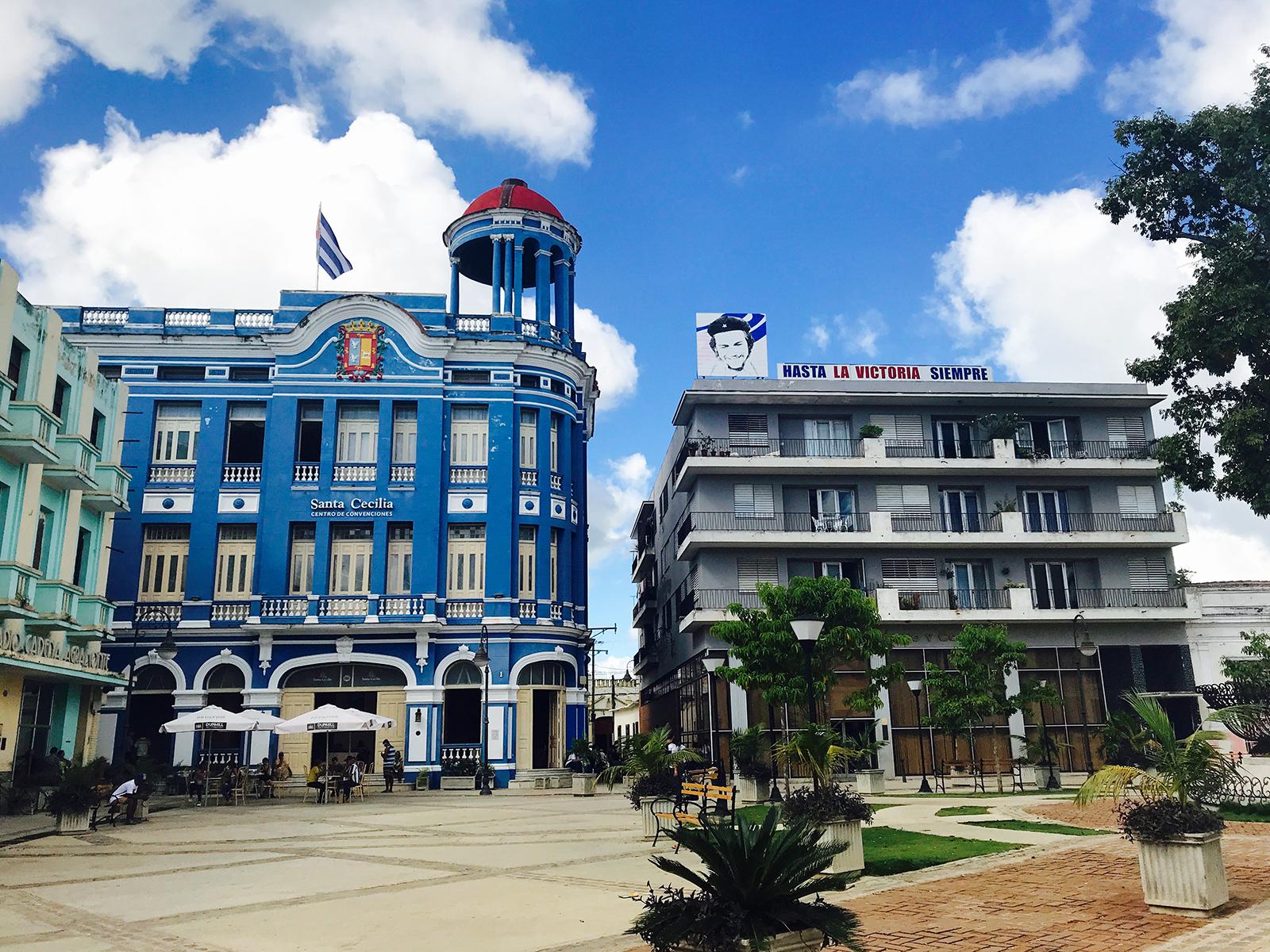 A public square in Camaguey, Cuba