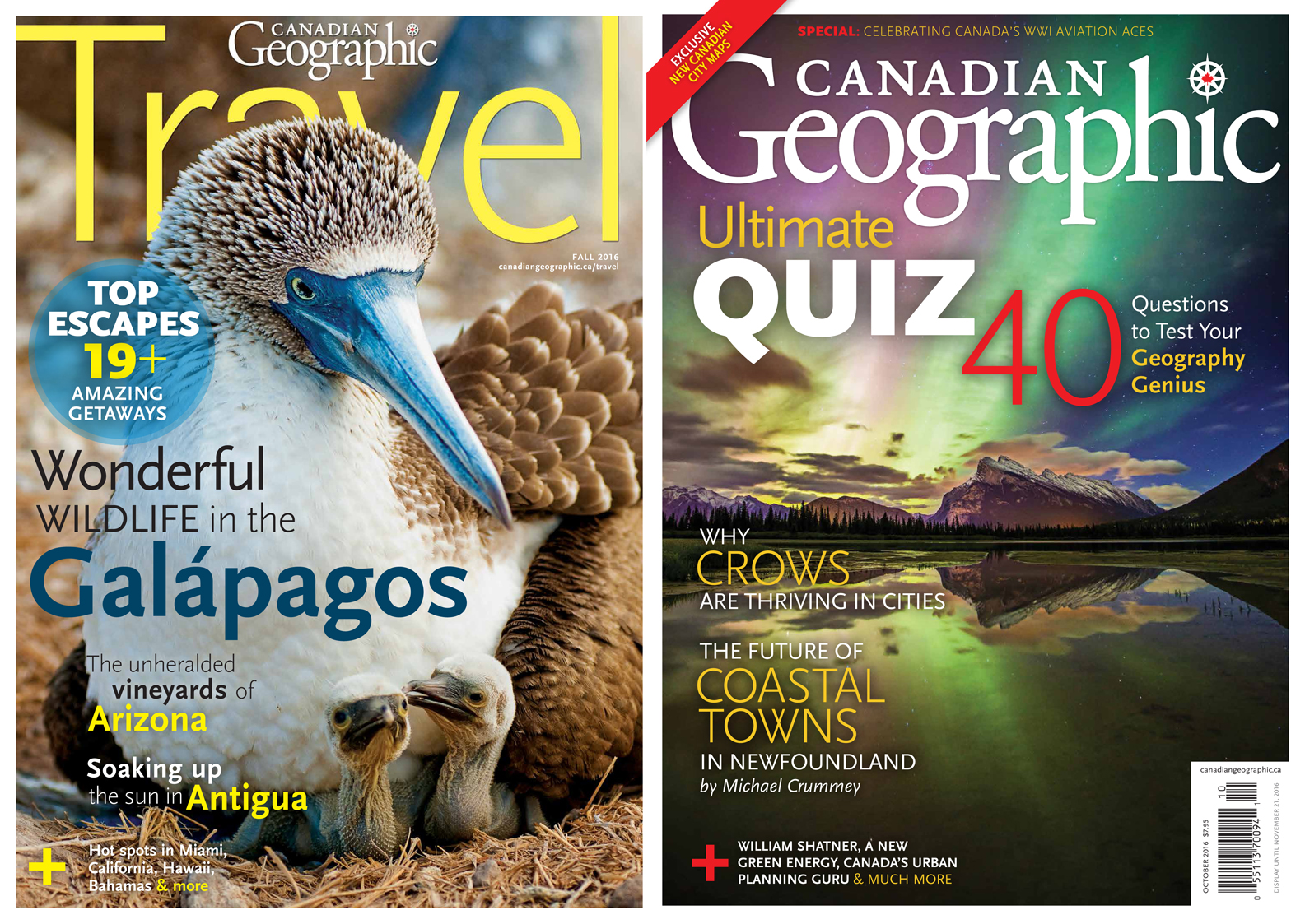 CanGeo Fall Travel cover and October cover 2016