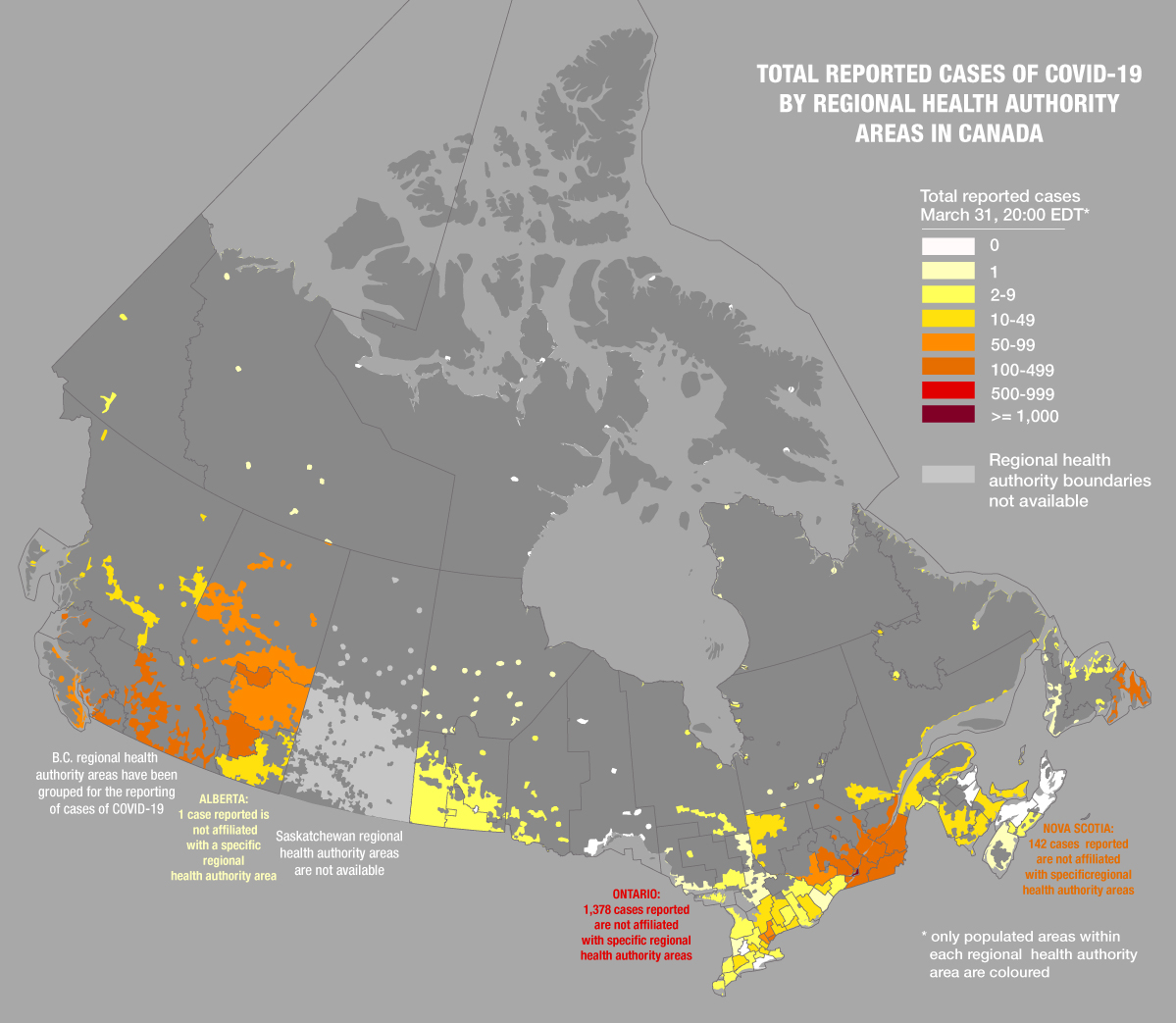What Are Maps Really Saying About Covid 19 In Canada Canadian Geographic