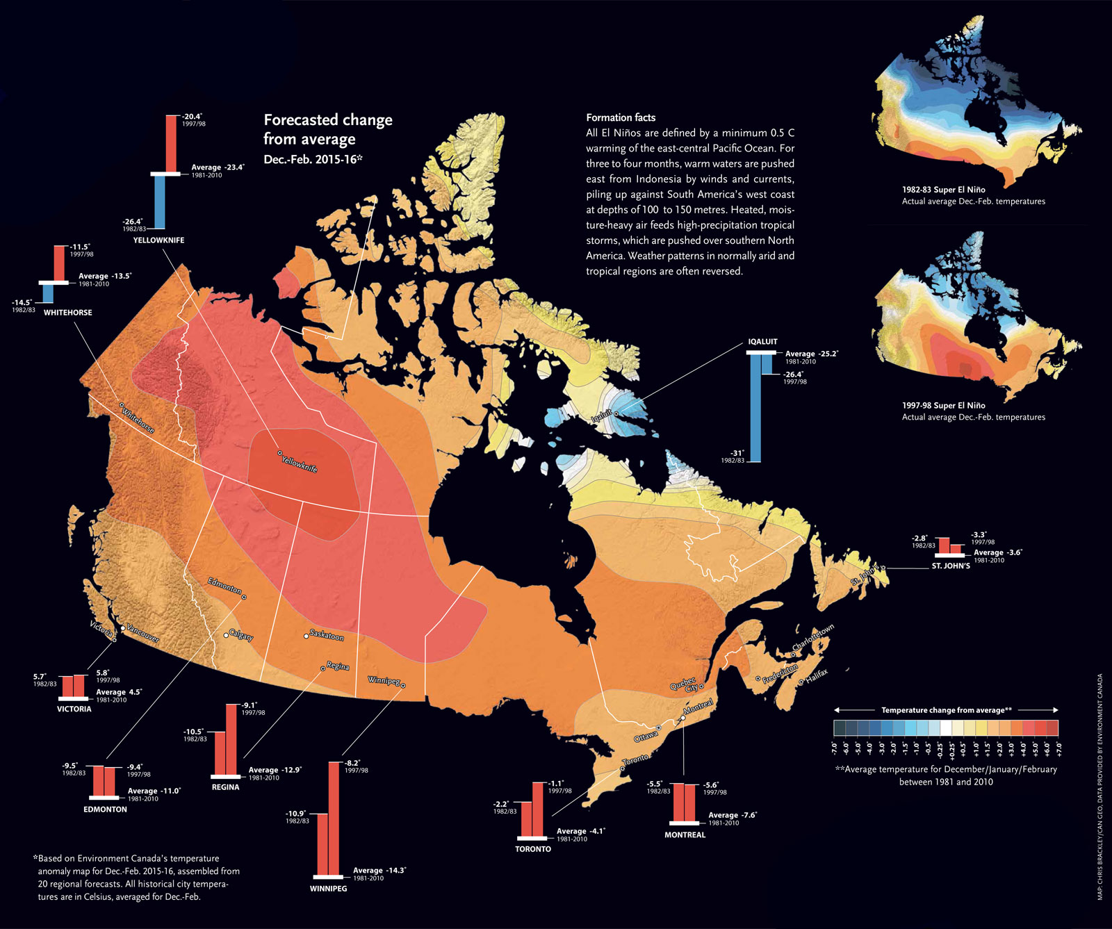 The best maps we published in 2016 canadian geographic el nio grande published in the januaryfebruary 2016 issue of canadian geographic map chris brackleycanadian geographic gumiabroncs Images