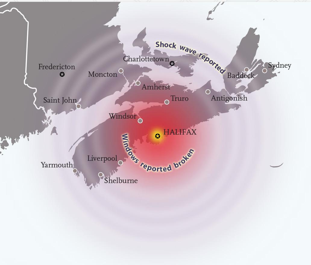 Halifax explosion blast radius