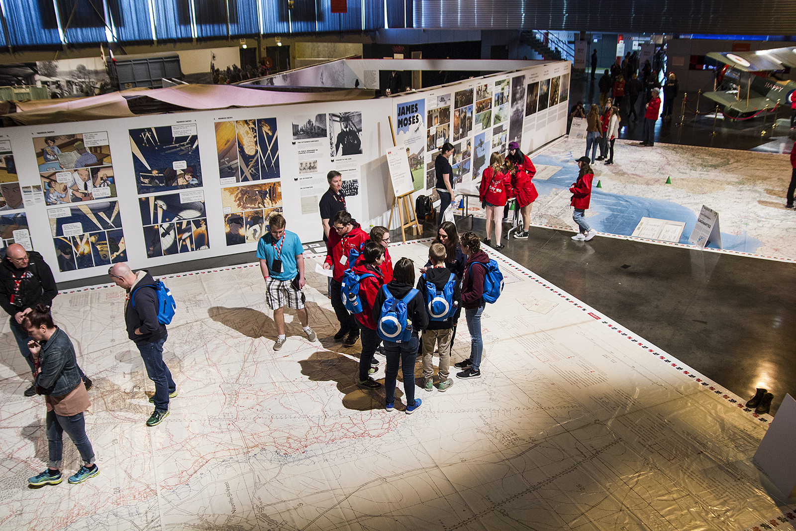 Students explore the Artois Expo in Arras, France, April 2017