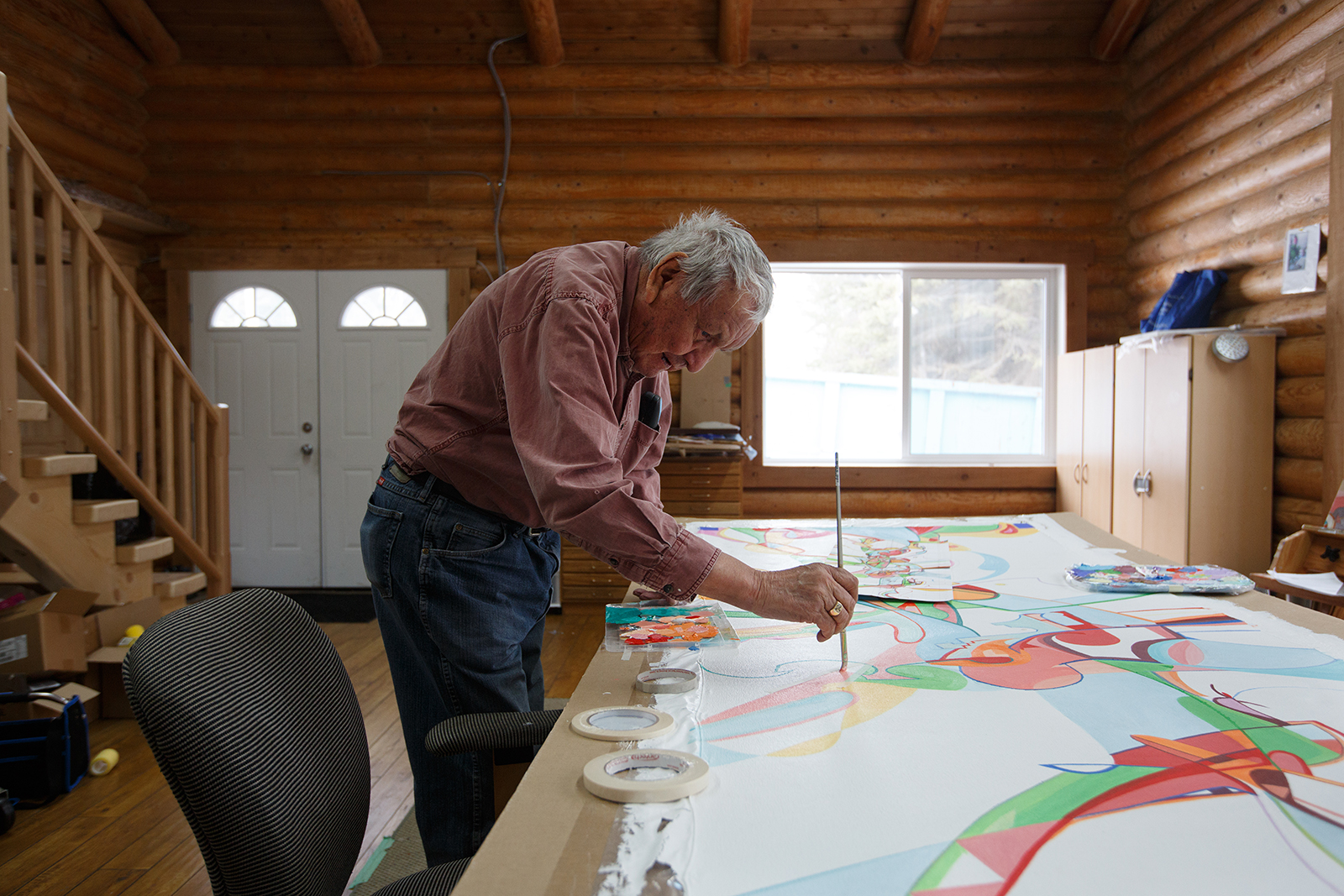Alex Janvier by Amber Bracken for Canadian Geographic