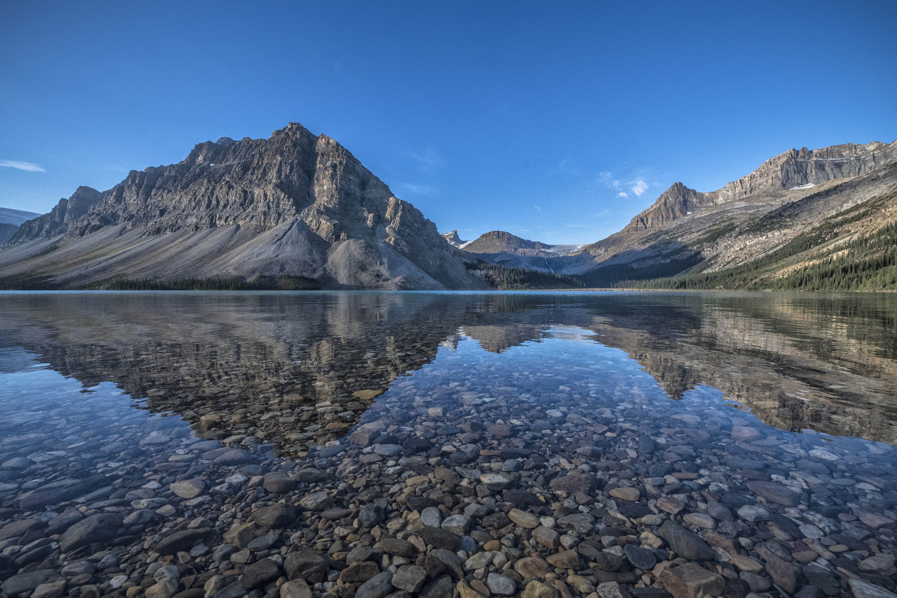 early morning at Bow Lake, Alberta