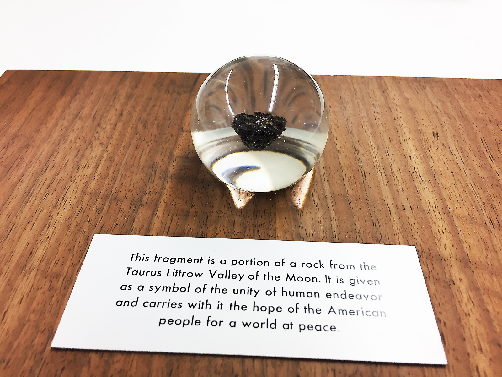 Canada's fragment of moon rock