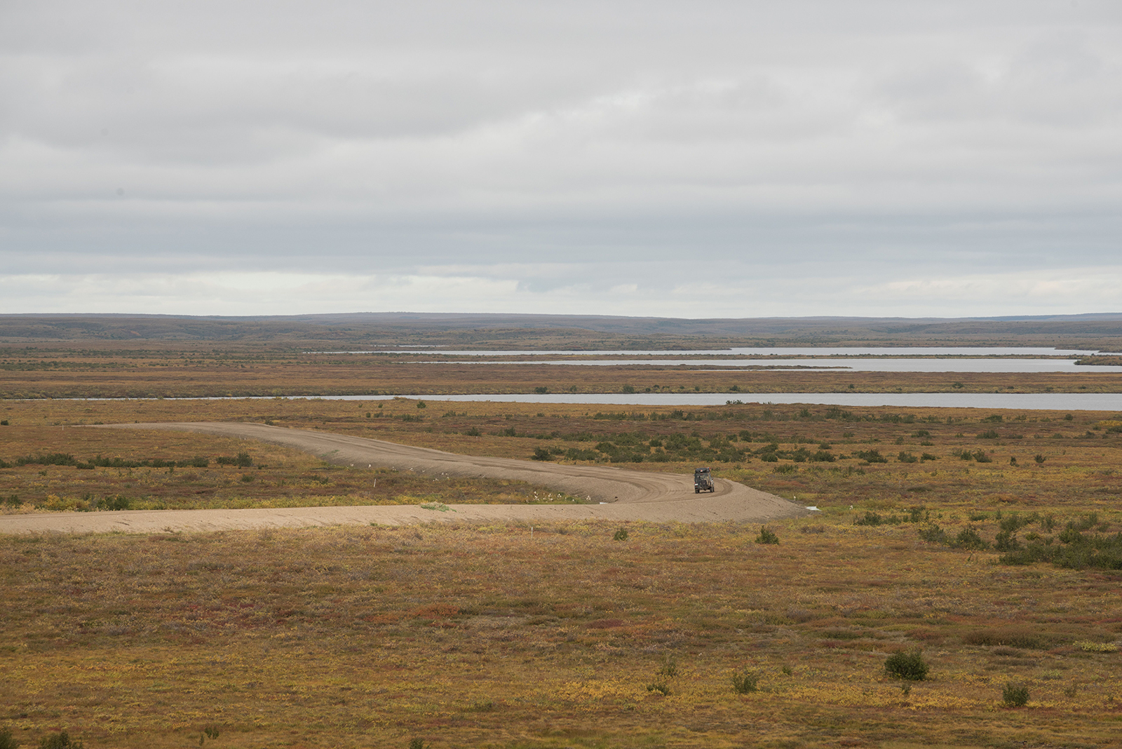 Mackenzie Valley Highway and tundra