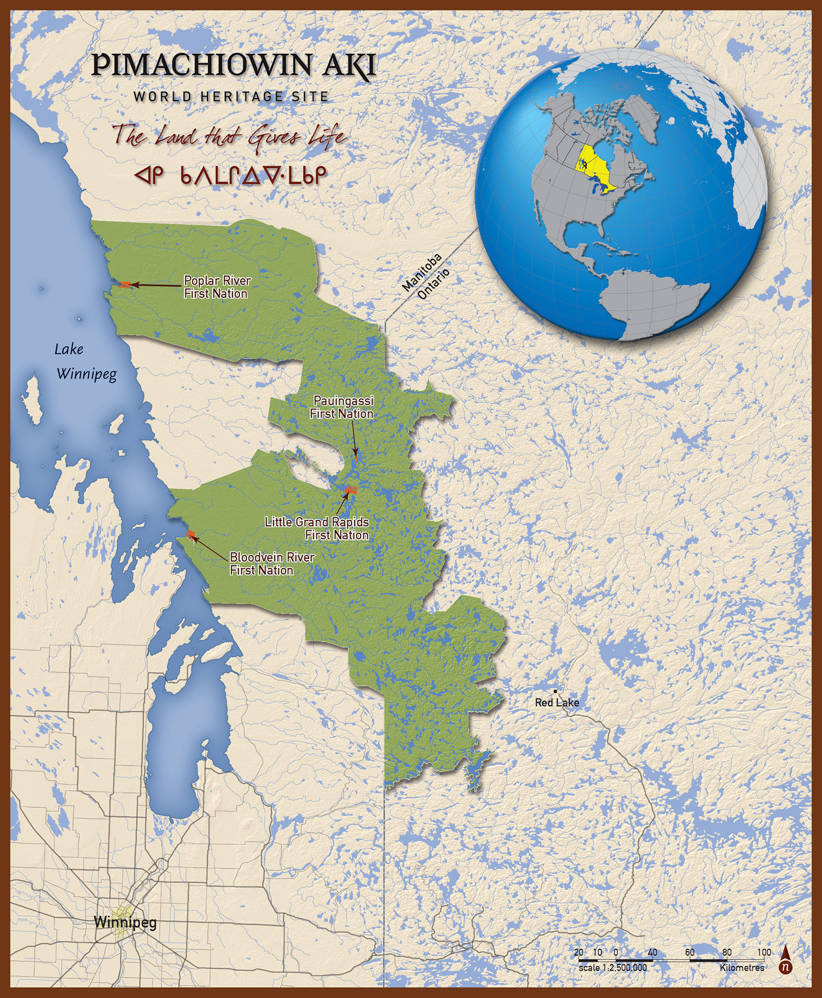 Map Of Canada On Globe.Pimachiowin Aki Is Canada S Newest Unesco World Heritage Site
