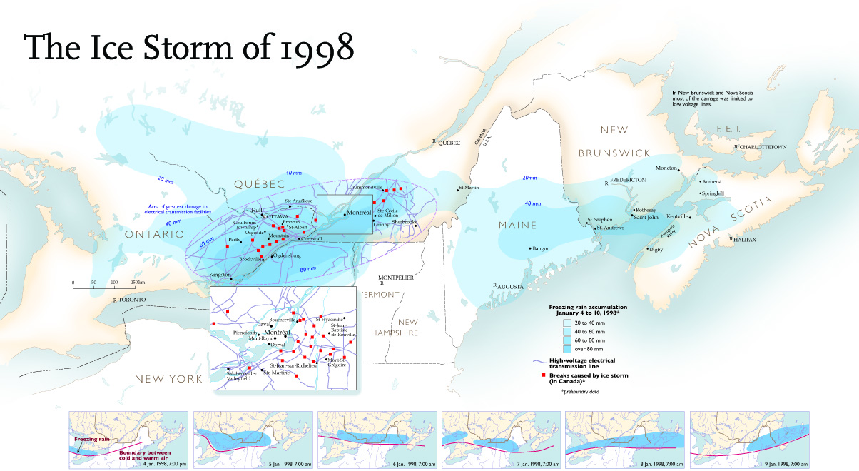Map Of Southeast Canada.The Storm Of The Century Canadian Geographic
