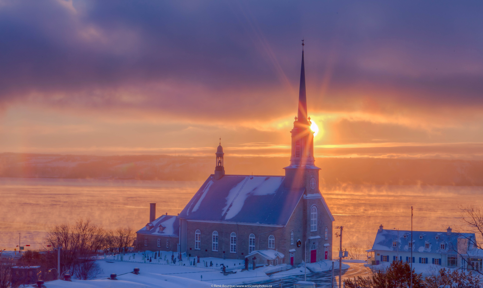 Sunrise church over St Lawrence
