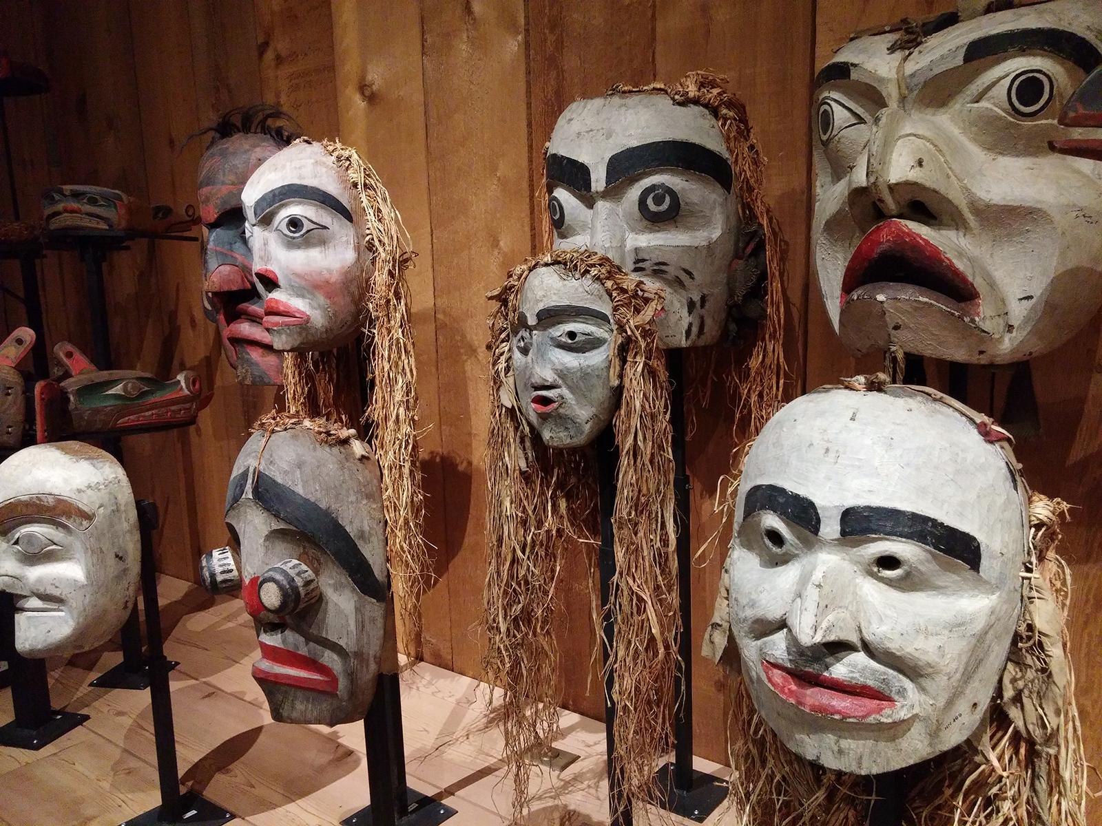 potlatch masks umista cultural centre