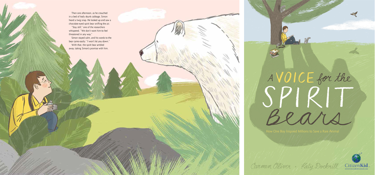 A Voice for the Spirit Bears illustrations by Katy Dockrill