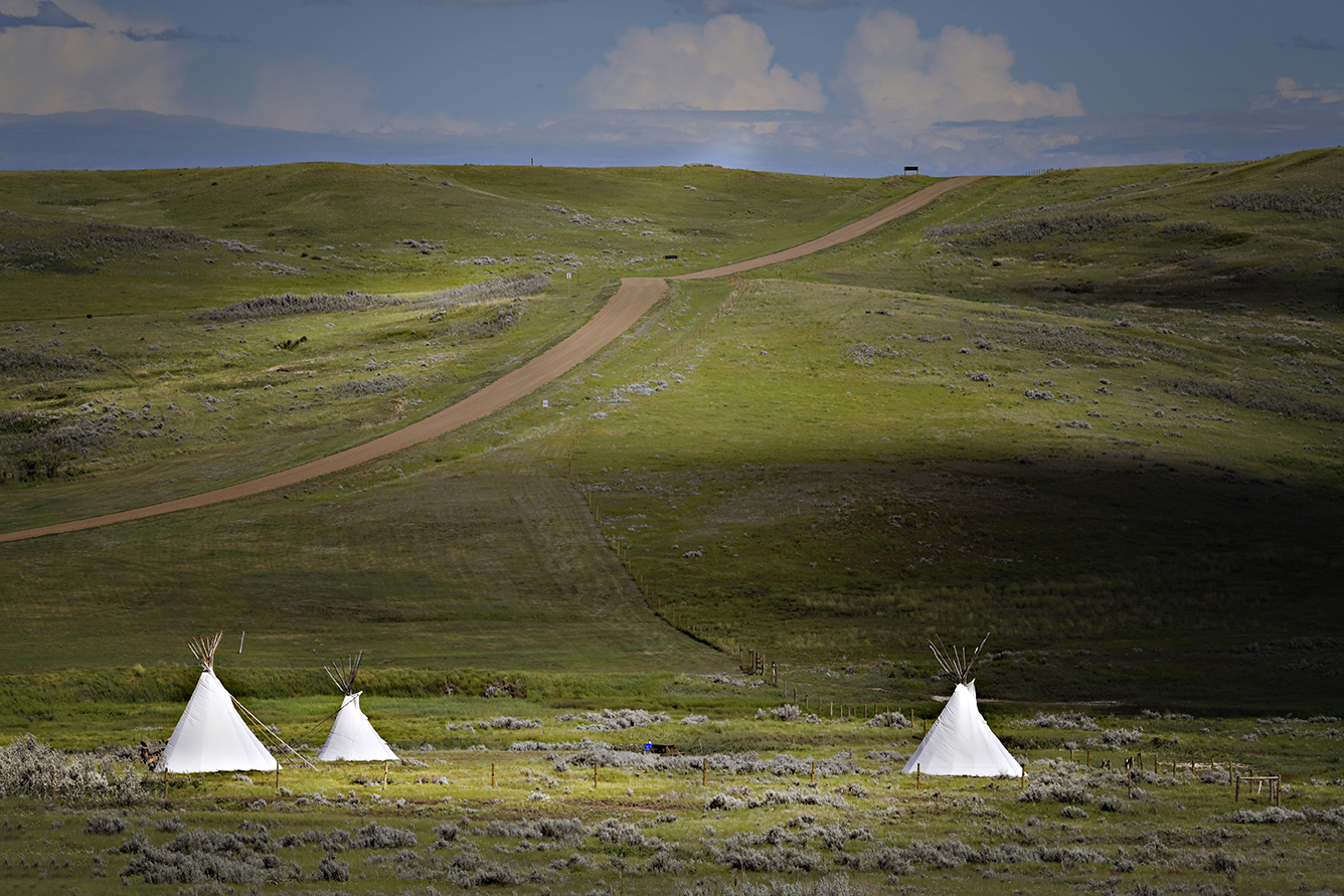 Tipis on the grasslands