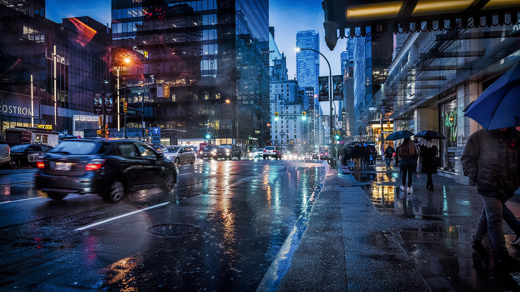 Rainy day in Vancouver by Gabor Dosa