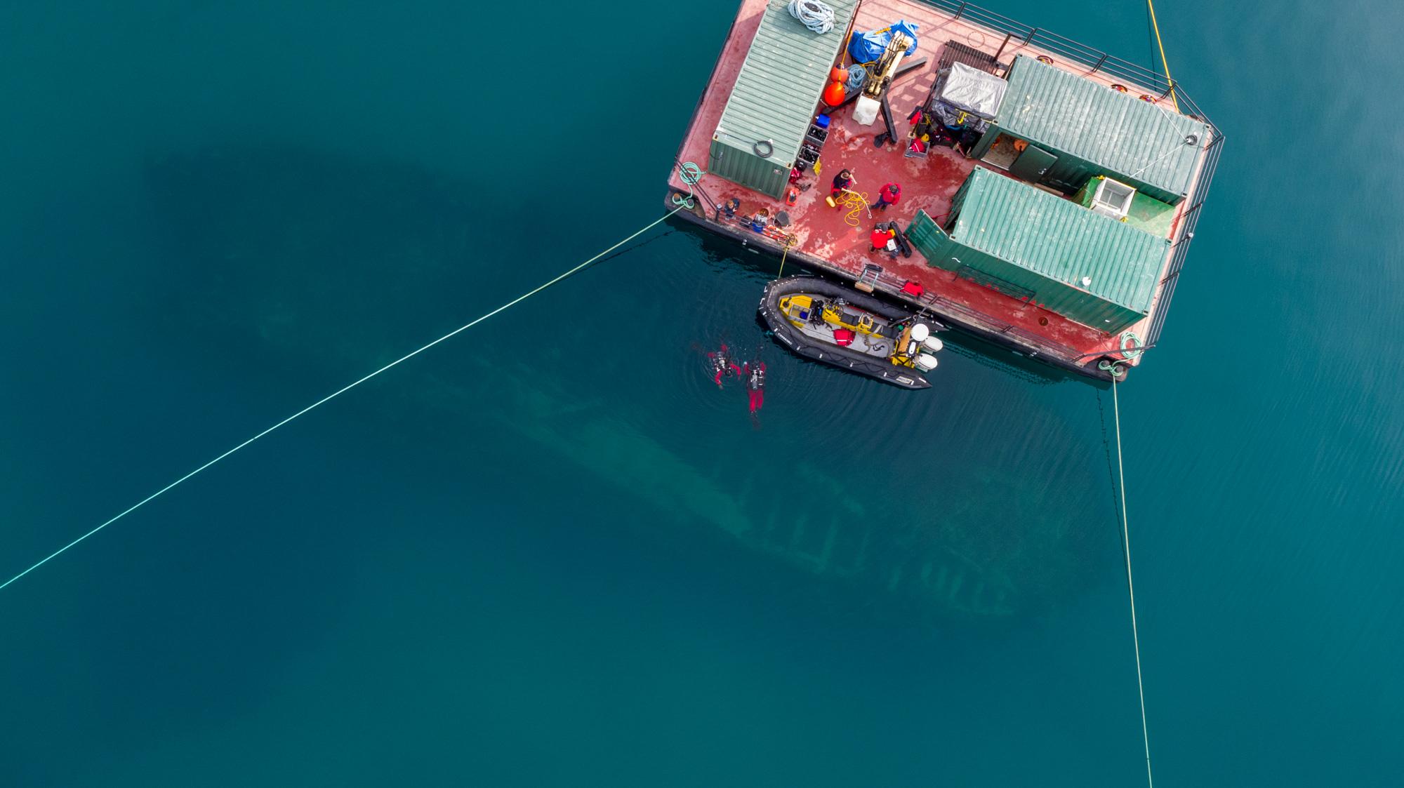 Parks Canada HMS Erebus dive site
