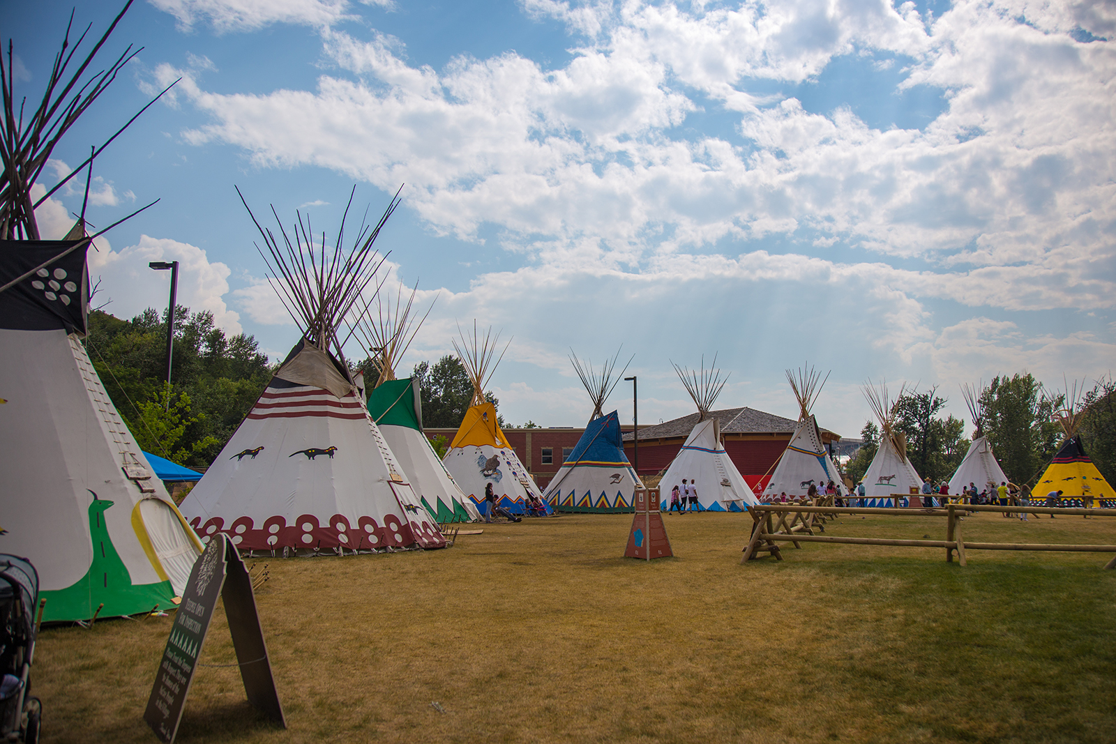 teepees in the Indian Village at the Calgary Stampede