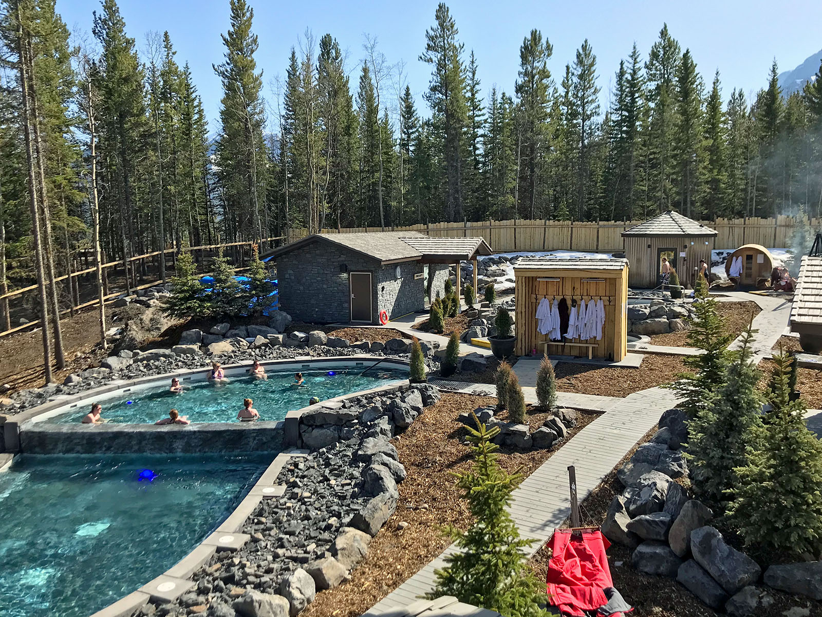 A view of the new Kananaskis Nordic Spa