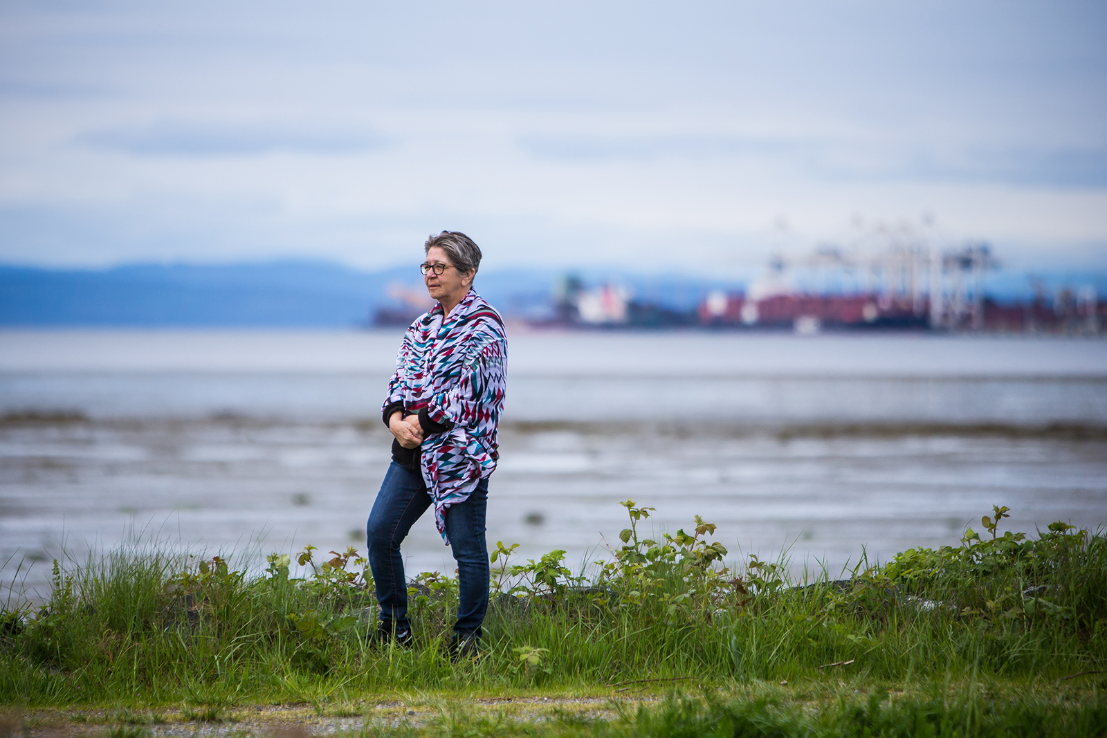 Elder Barb Joe is pictured on the banks of the Tsawwassen shores