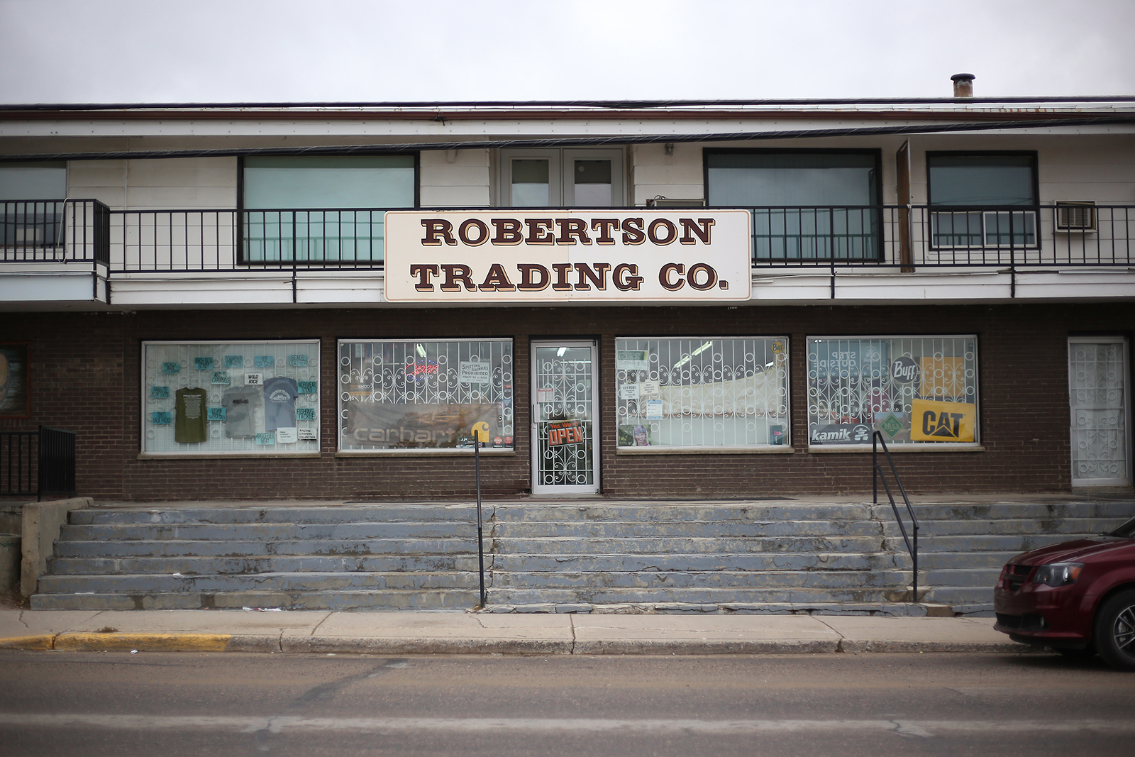 Exterior photo of Robertson Trading Co. in La Ronge, Sask. in 2018